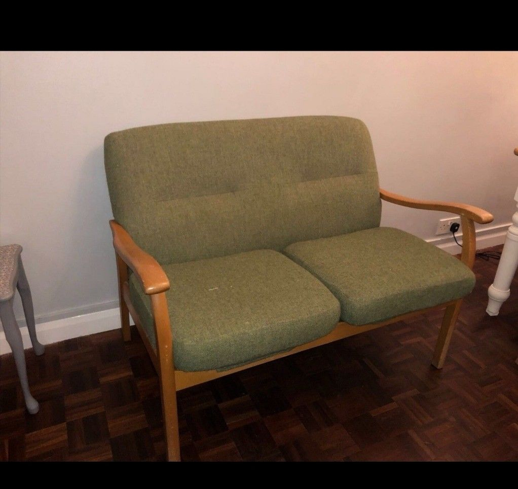Parker Knoll Green Used Sofa Chair 2 Seater | In Greenwich, London With Regard To Parker Sofa Chairs (Photo 17 of 20)