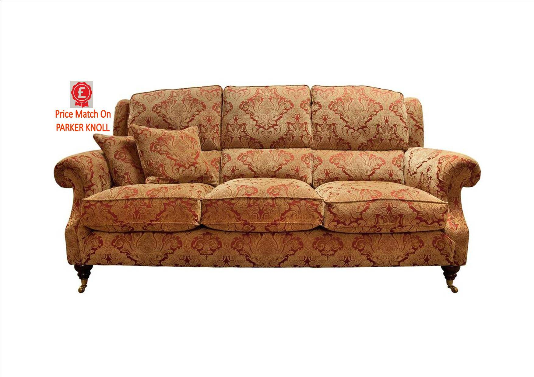 Parker Knoll Parker Knoll – Oakham 3 Seat Sofa C Fabric – Fabric For Parker Sofa Chairs (Image 14 of 20)