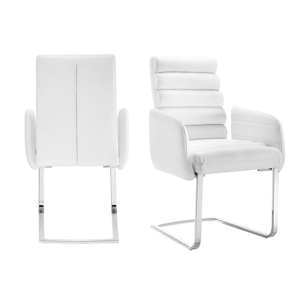 Picket House Furnishings Soho White Modern Arm Chair (Set Of 2 Throughout Patterson Ii Arm Sofa Chairs (Image 13 of 20)
