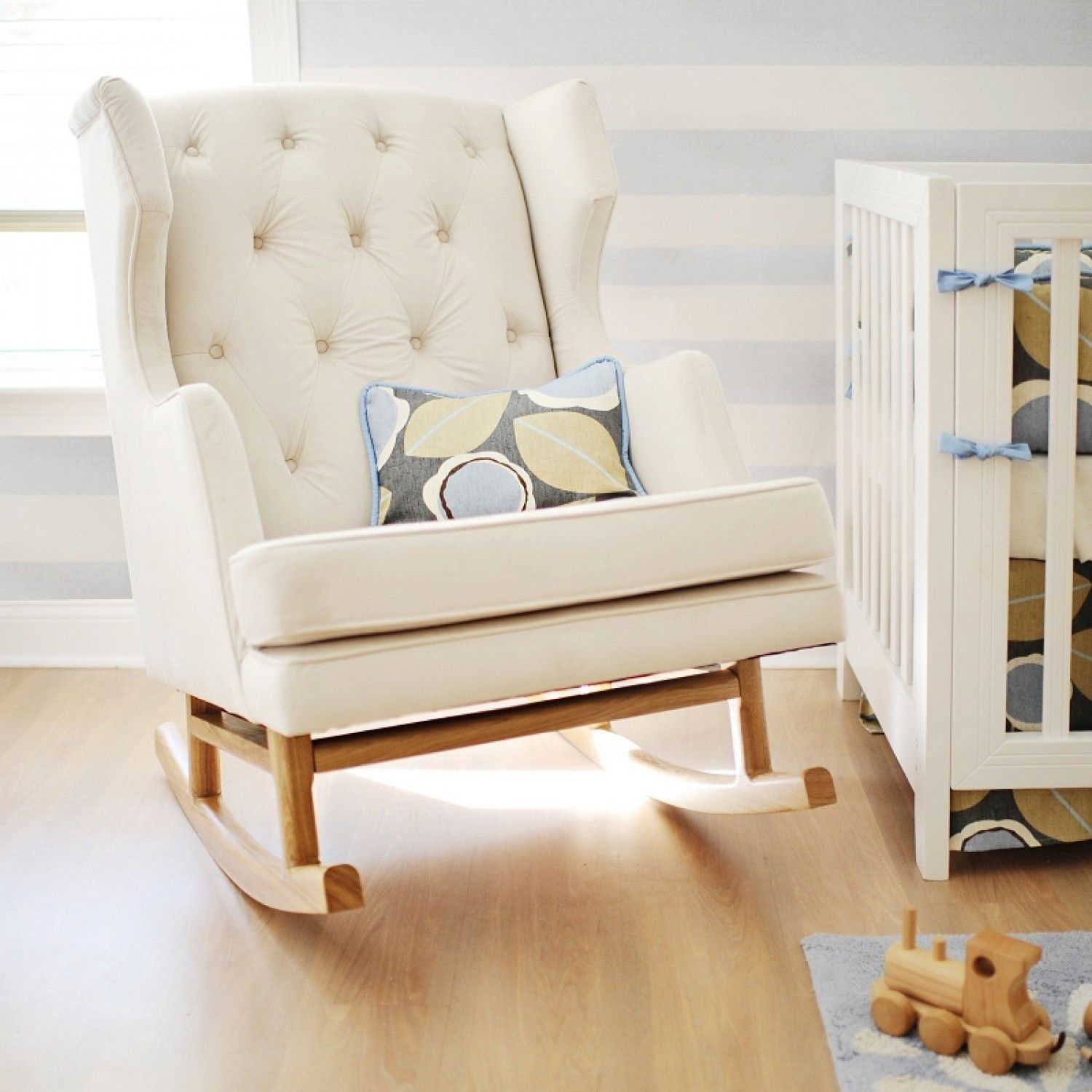 Pinmartha Ladies On Ideas For The House | Baby, Nursery, Rocking In Katrina Beige Swivel Glider Chairs (Image 12 of 20)