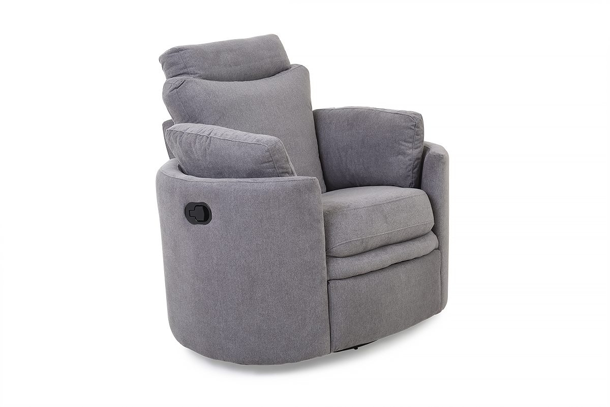 Pluto Grey Swivel Rocker Recliner Armchair – Furniture Stores Ireland Within Grey Swivel Chairs (Image 13 of 20)