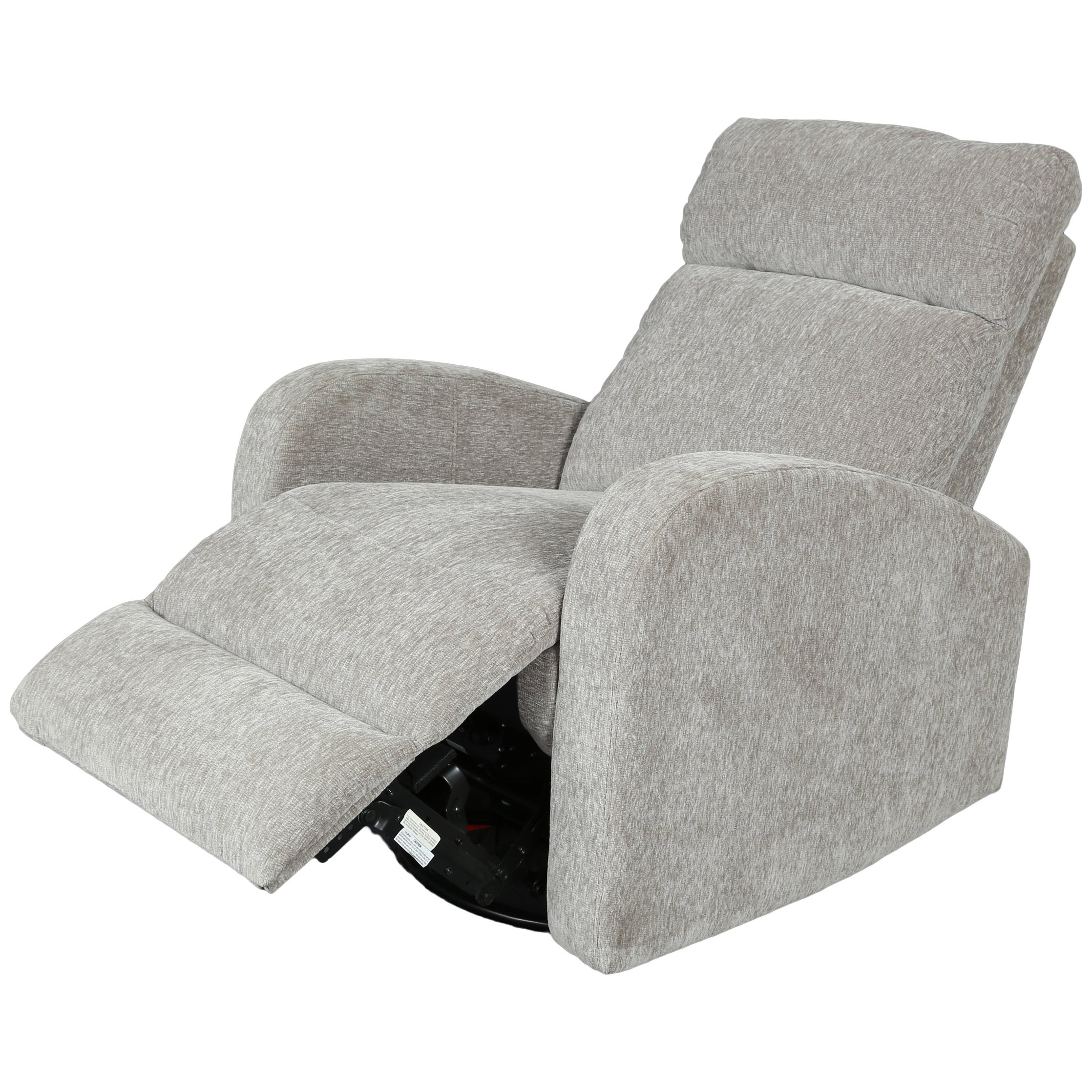 Porter Glenn Grey Chenille Wireless Power Swivel Rocking Recliner Pertaining To Gannon Linen Power Swivel Recliners (Image 17 of 20)