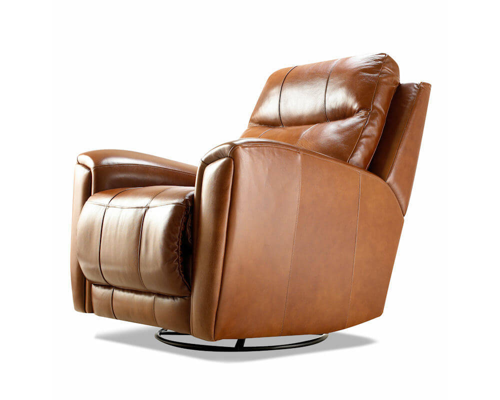 Probably Outrageous Nice Leather Reclining Armchair And Footstool Throughout Amala Bone Leather Reclining Swivel Chairs (Photo 12 of 20)