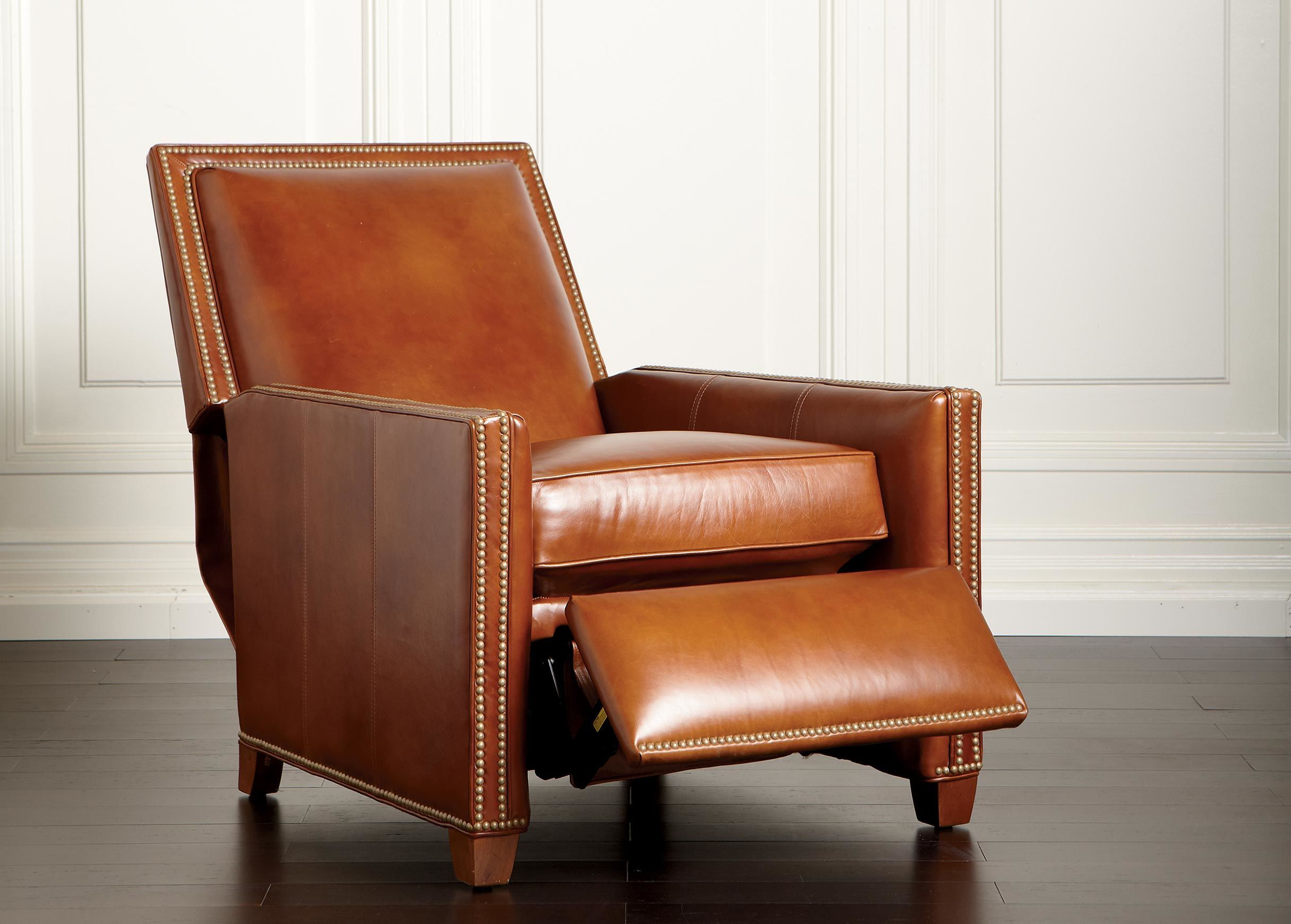 Randall Leather Recliner – Ethan Allen Www (Image 13 of 20)