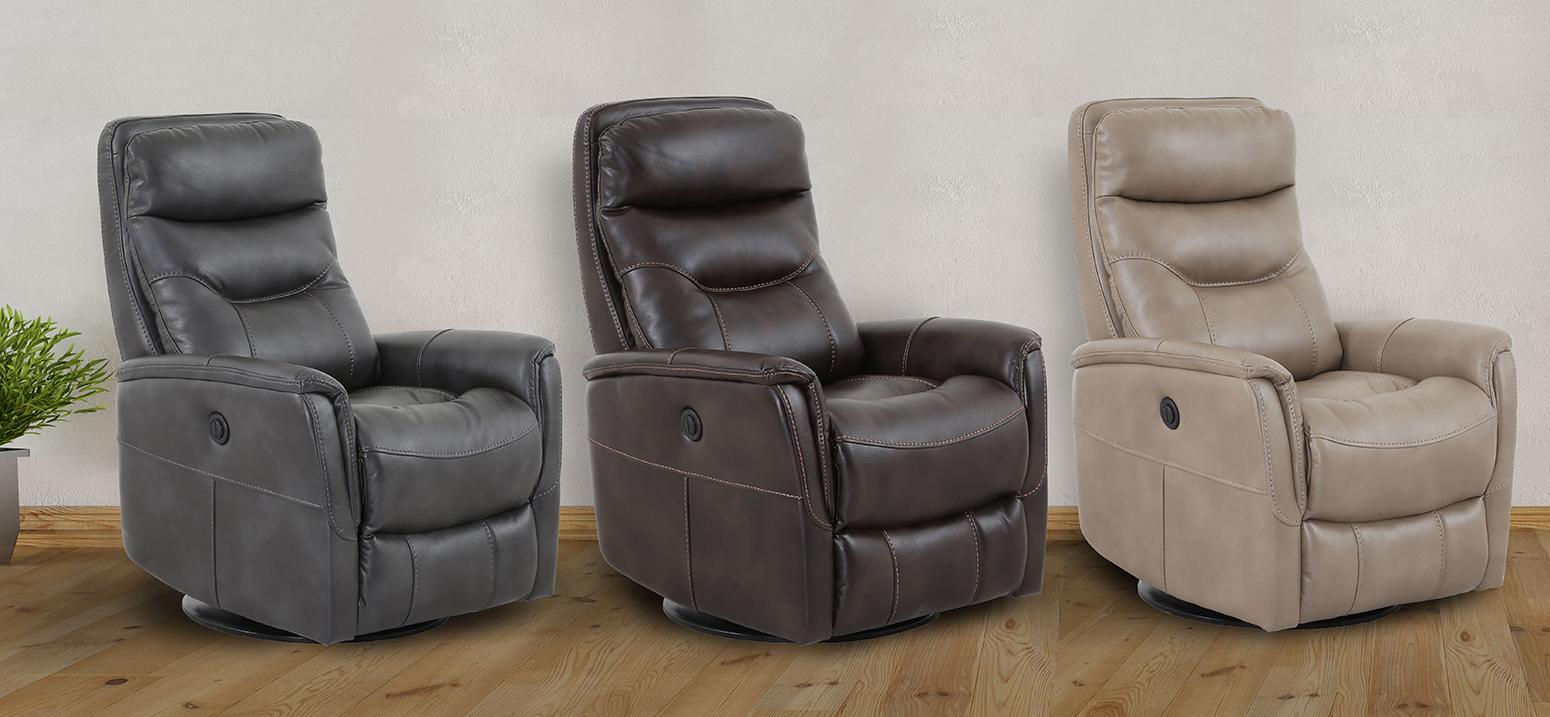 Recliners Inside Gannon Truffle Power Swivel Recliners (Photo 6 of 20)