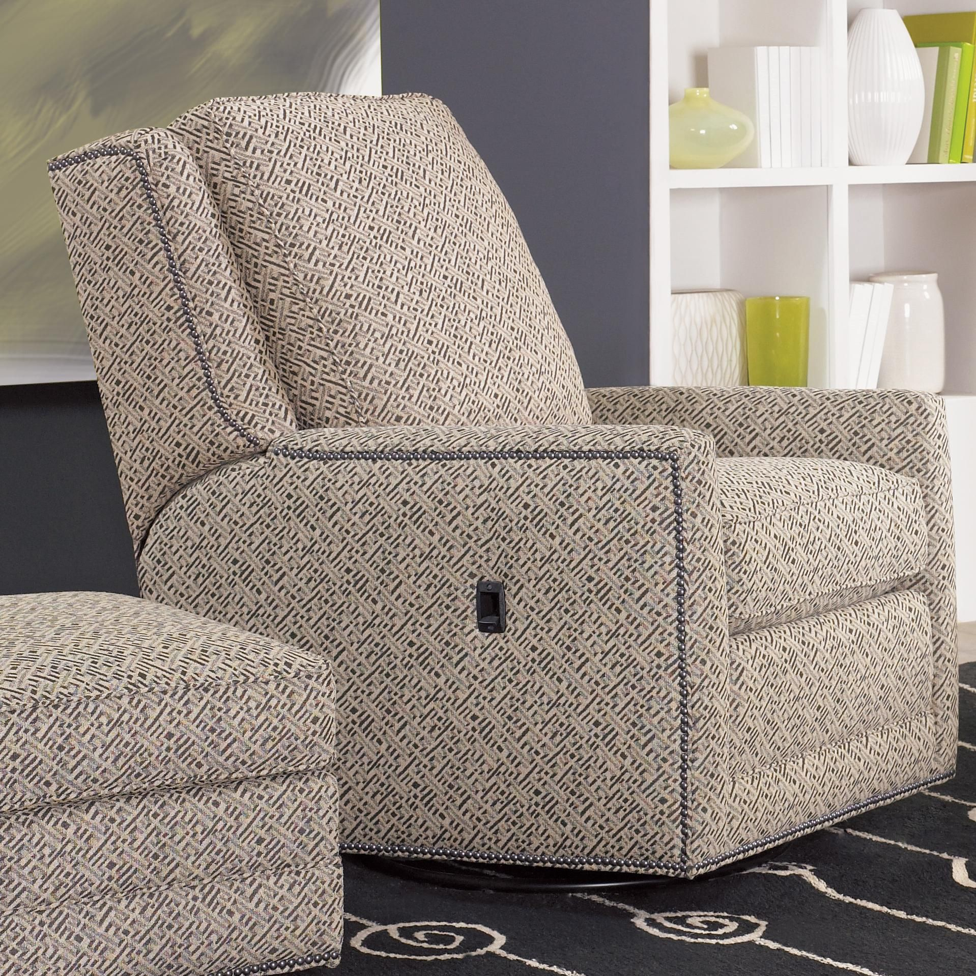 Recliners Swivel Tilt Back Chairsmith Brothers | Recliner Pertaining To Bailey Linen Flare Arm Wing Skirted Swivel Gliders (View 5 of 20)