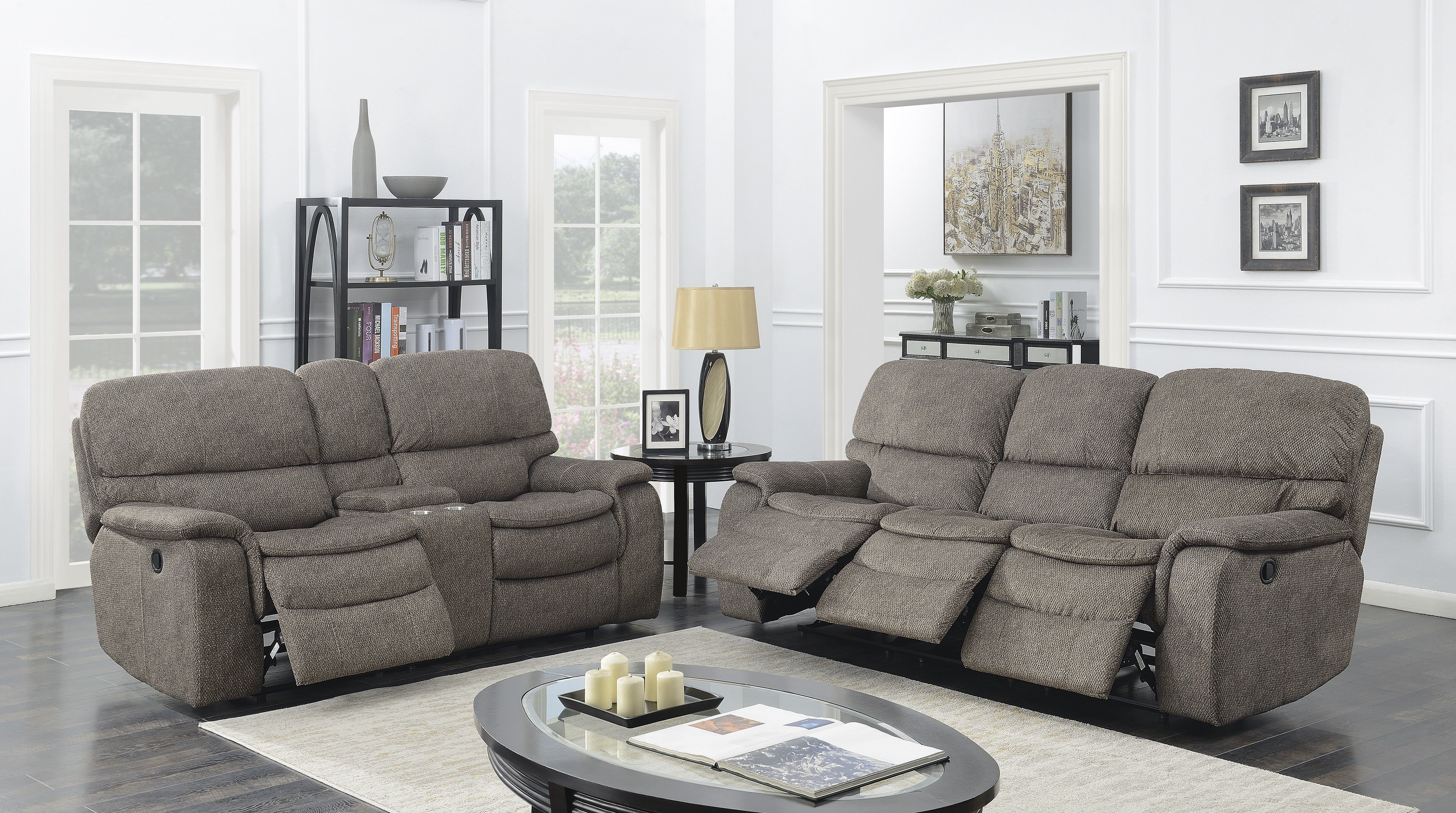 Red Barrel Studio Aidan Reclining 2 Piece Living Room Set | Wayfair Inside Aidan Ii Sofa Chairs (Image 20 of 20)
