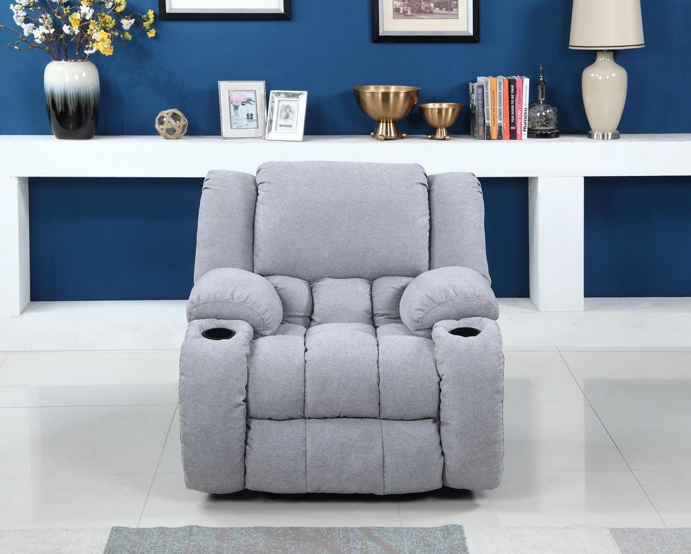 Red Barrel Studio Haigler Manual Glider Recliner | Wayfair In Dale Iii Polyurethane Swivel Glider Recliners (Image 14 of 20)