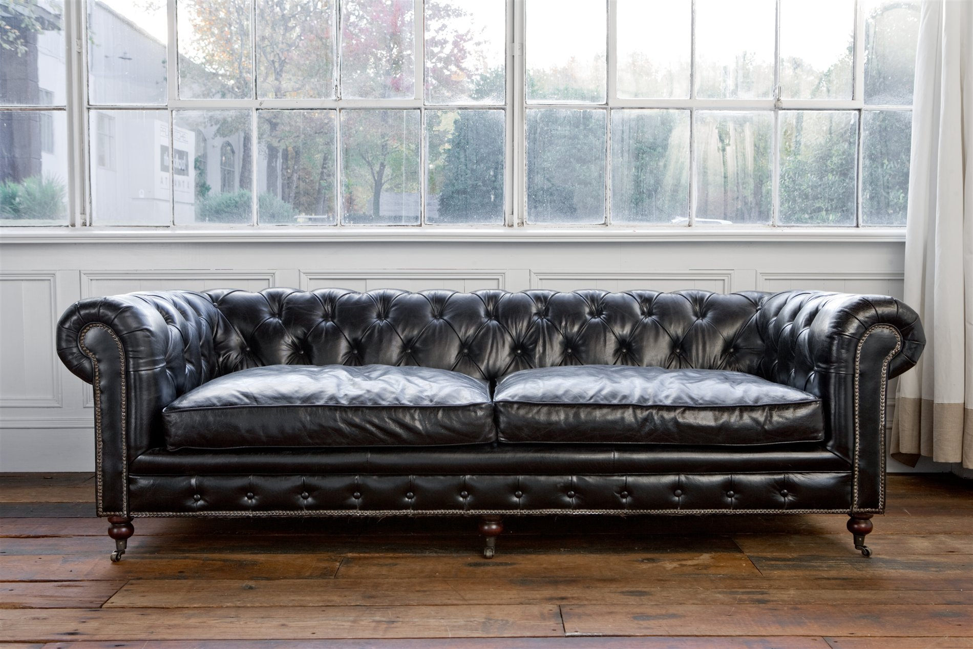 Regina Andrew Design 4 164Vbk Extra Deep Blk Chesterfield Sofa Med In Andrew Leather Sofa Chairs (Image 19 of 20)