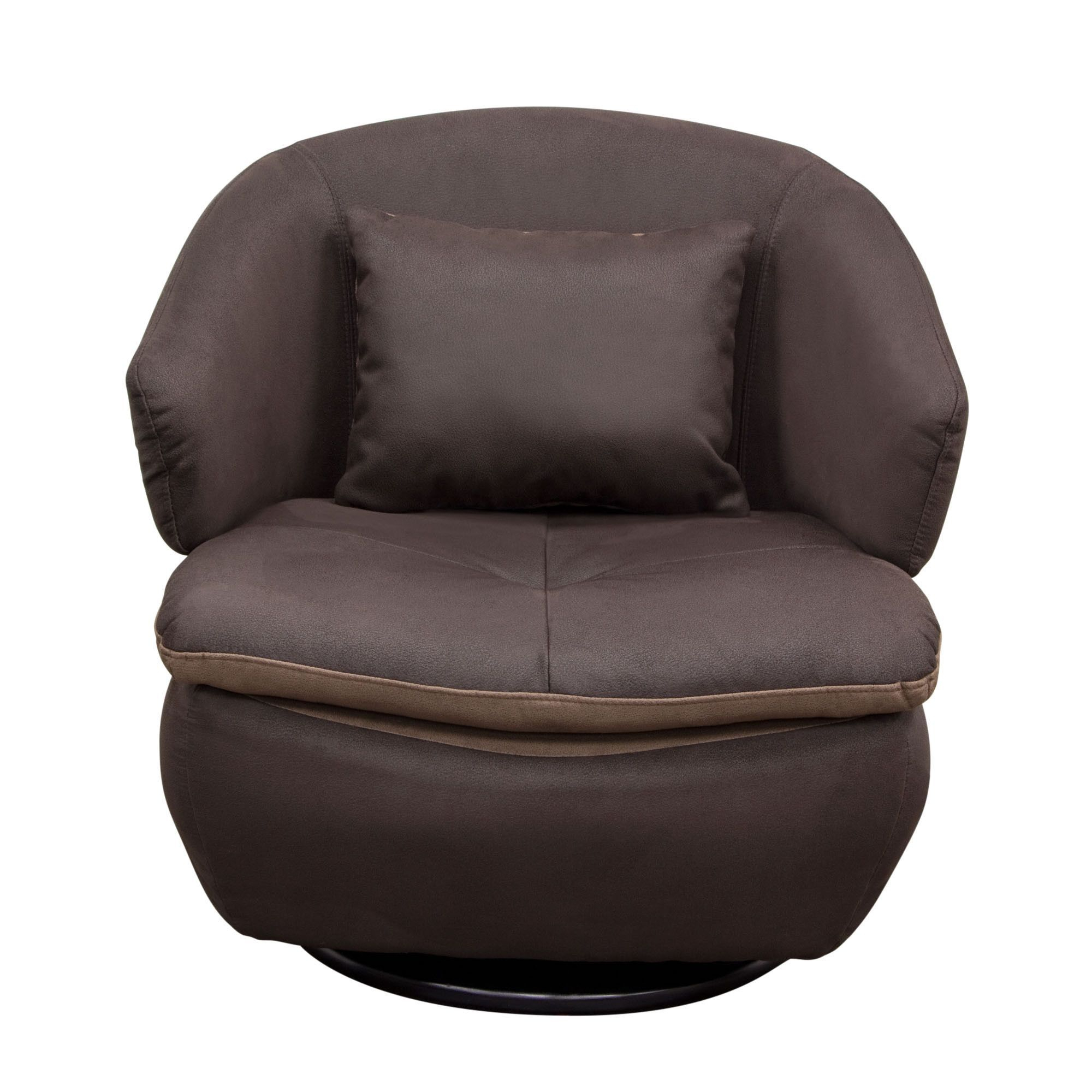 Rio Swivel Accent Chair In Brown Fabricdiamond Sofa | Products Pertaining To Twirl Swivel Accent Chairs (Photo 4 of 20)
