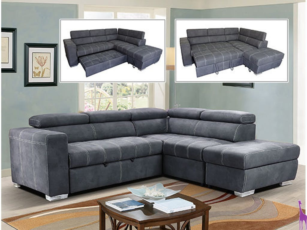 Rivera Sectional Products T Industrial Steel And Upholstery With Mcdade Graphite Sofa Chairs (View 15 of 20)
