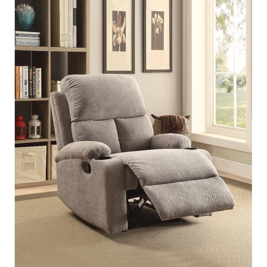 Rosia Homely Recliner , Gray Linen With Regard To Gannon Linen Power Swivel Recliners (Image 18 of 20)