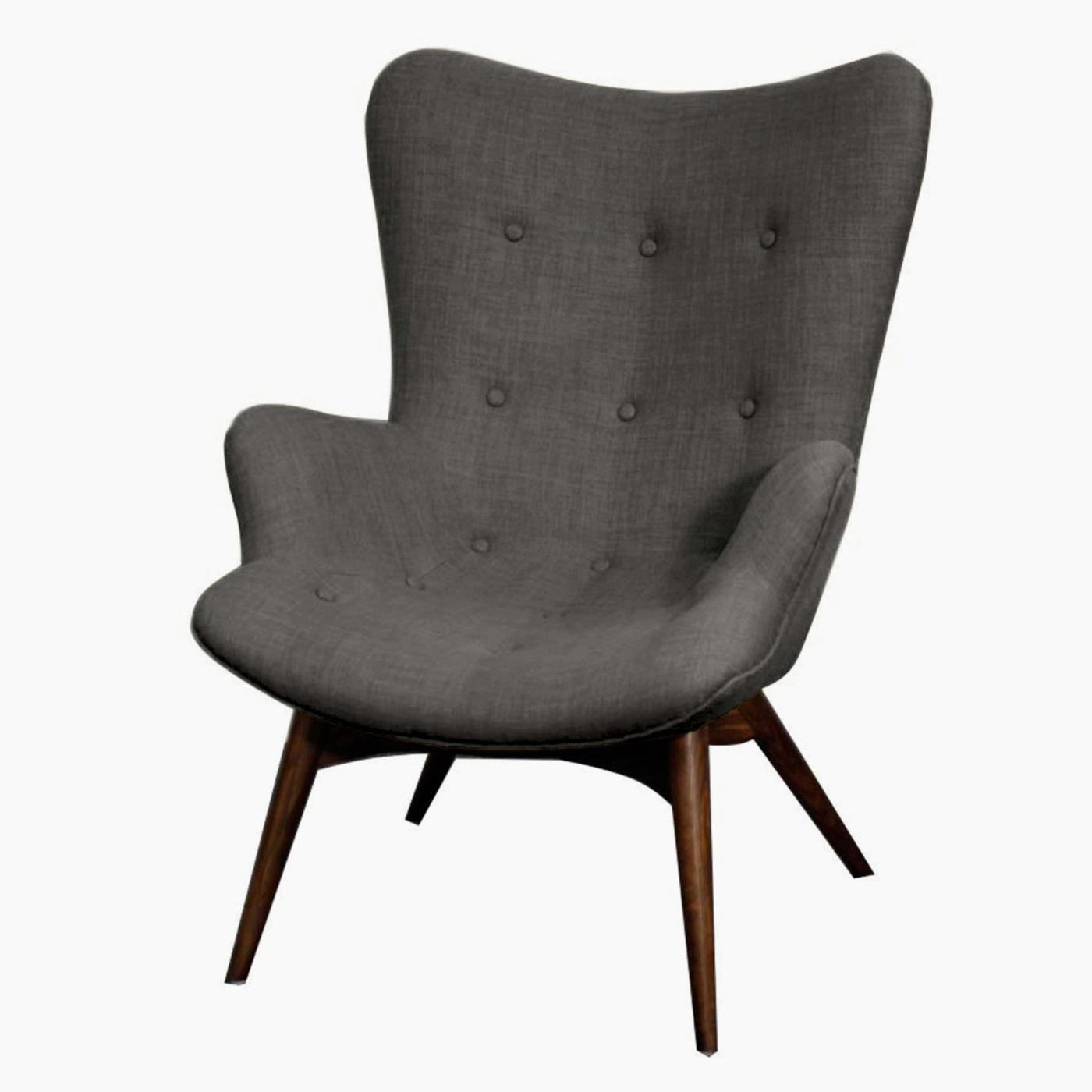 Sadie Arm Chair Dark Walnut Legs, Rock | Products In 2018 Intended For Sadie Ii Swivel Accent Chairs (View 5 of 20)