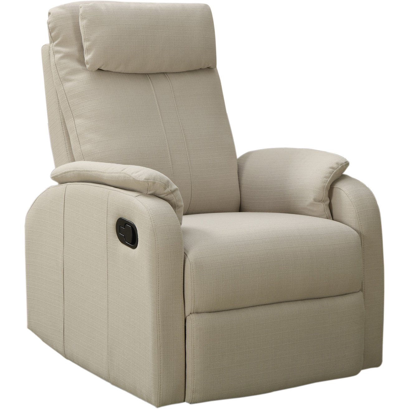 Sand Linen Fabric Swivel Rocker Recliner Within Gannon Linen Power Swivel Recliners (Image 19 of 20)