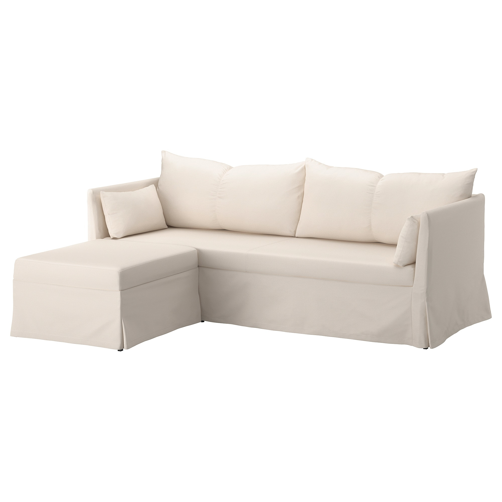 Sandbacken Corner Sofa Bed Ransta Natural – Ikea With London Optical Sofa Chairs (Image 17 of 20)