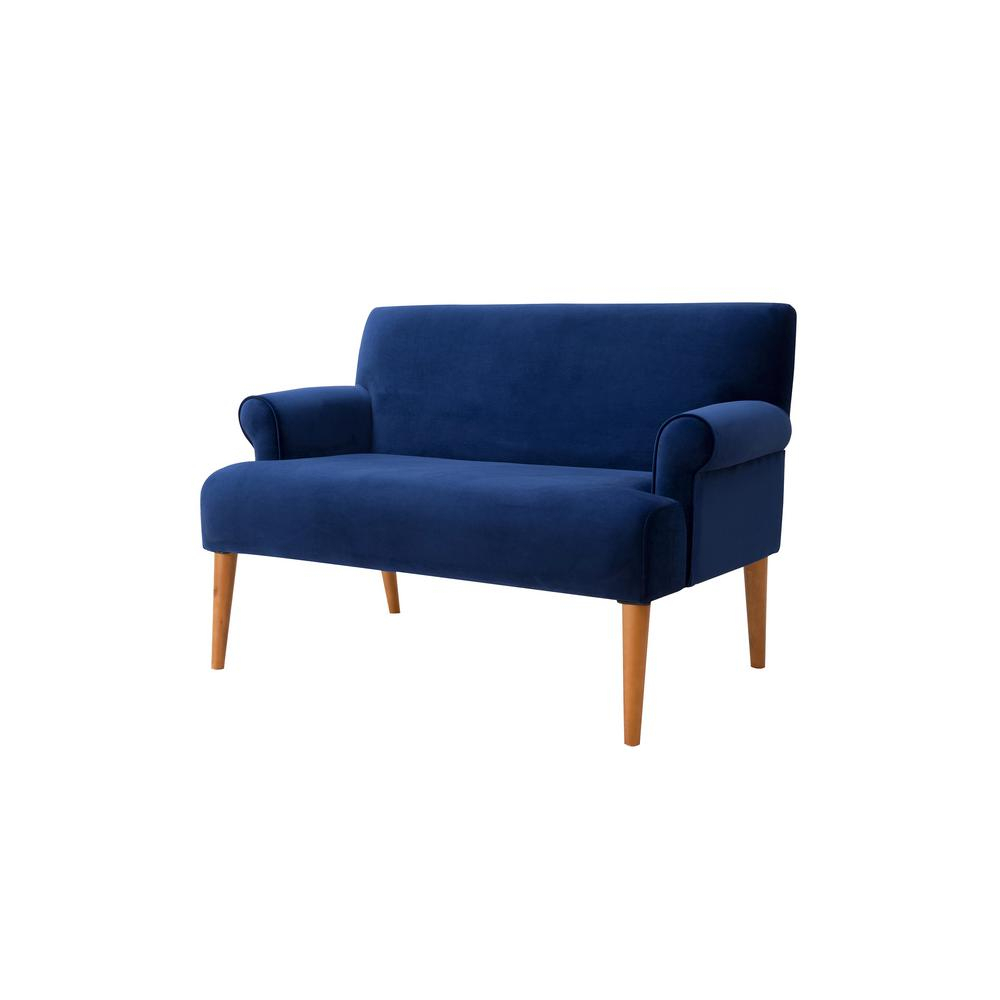 Sandy Wilson Callie Roll Arm Settee, Navy Blue S61170 859 – The Home In Callie Sofa Chairs (Image 16 of 20)