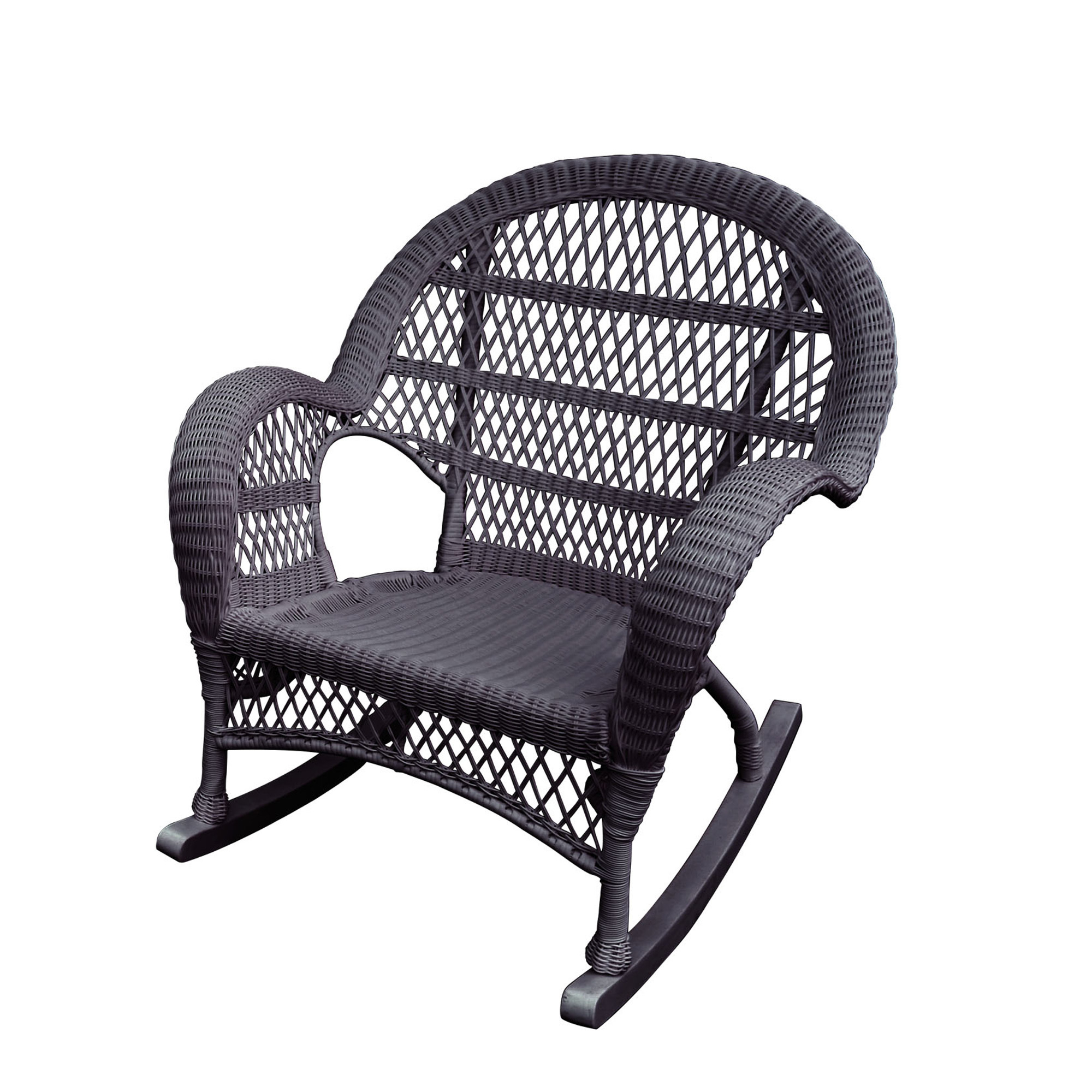 Santa Maria Espresso Rocker Wicker Chair W00208 R | Elite Fixtures Throughout Mari Swivel Glider Recliners (Image 14 of 20)