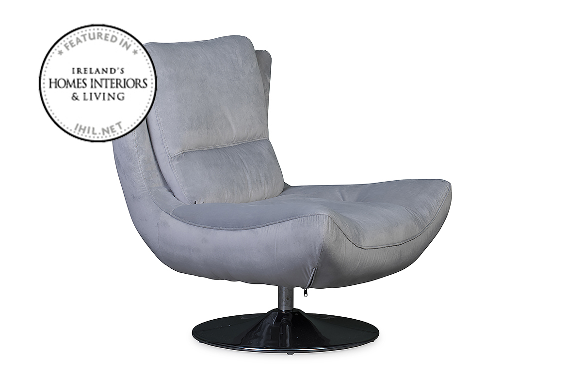 Santino Swivel Chair Grey – Furniture Stores Ireland In Grey Swivel Chairs (Image 14 of 20)