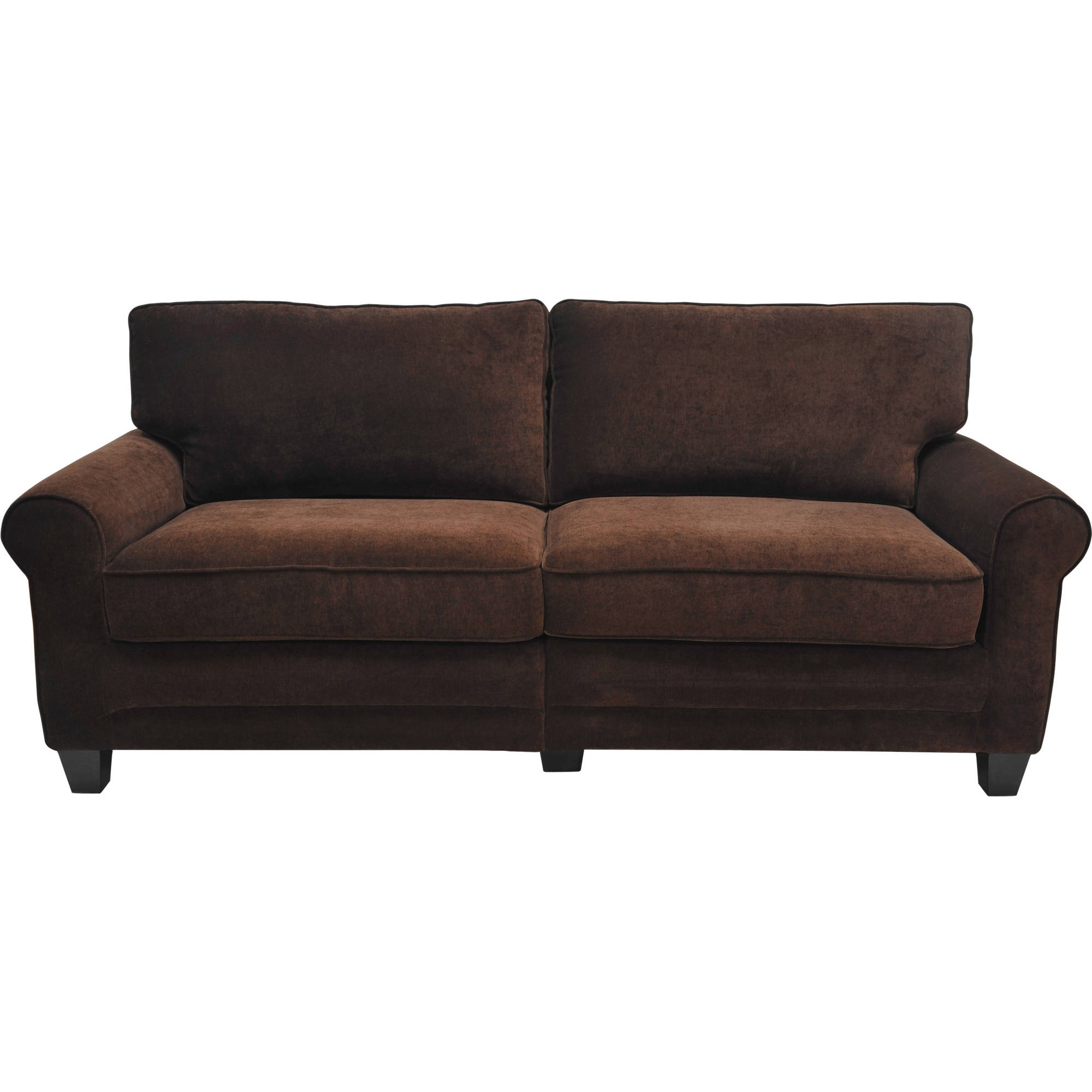 "Serta Rta Copenhagen Collection 73"" Sofa, Multiple Colors – Walmart Inside Mansfield Graphite Velvet Sofa Chairs (Image 15 of 20)"