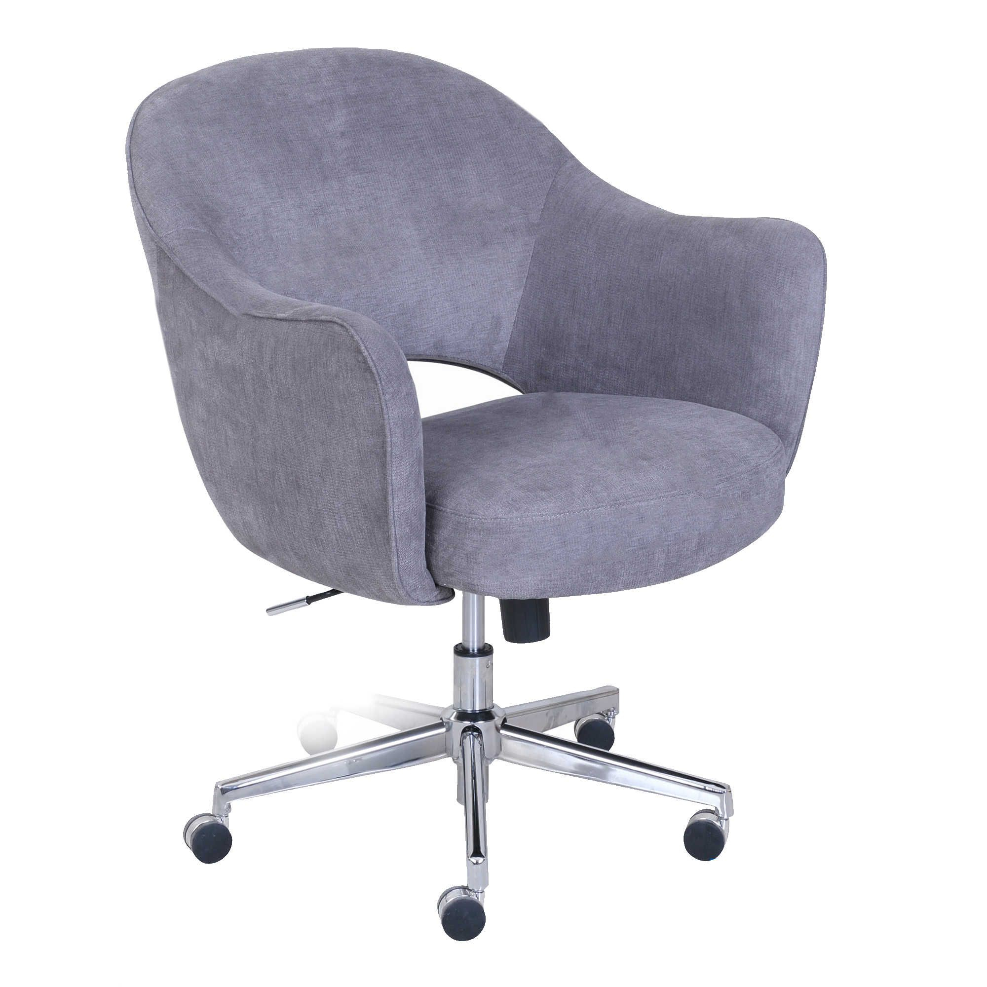 Serta® Valetta Home Office Chair In Dovetail Grey | Memory Foam In Mercer Foam Swivel Chairs (View 16 of 20)