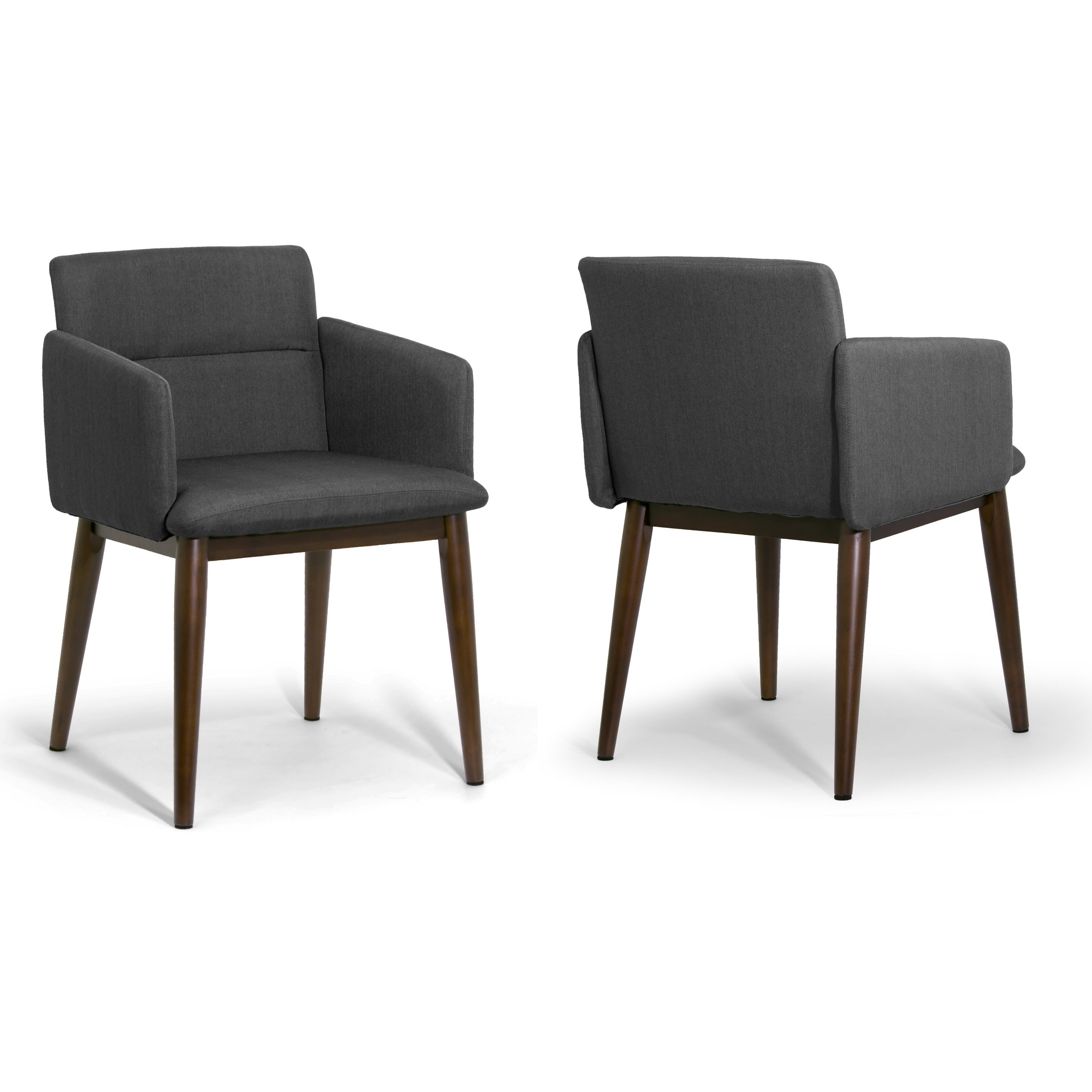 Shop Aila Dark Grey/dark Brown Fabric/beech Legs Accent Arm Chair With Aidan Ii Swivel Accent Chairs (Image 16 of 20)