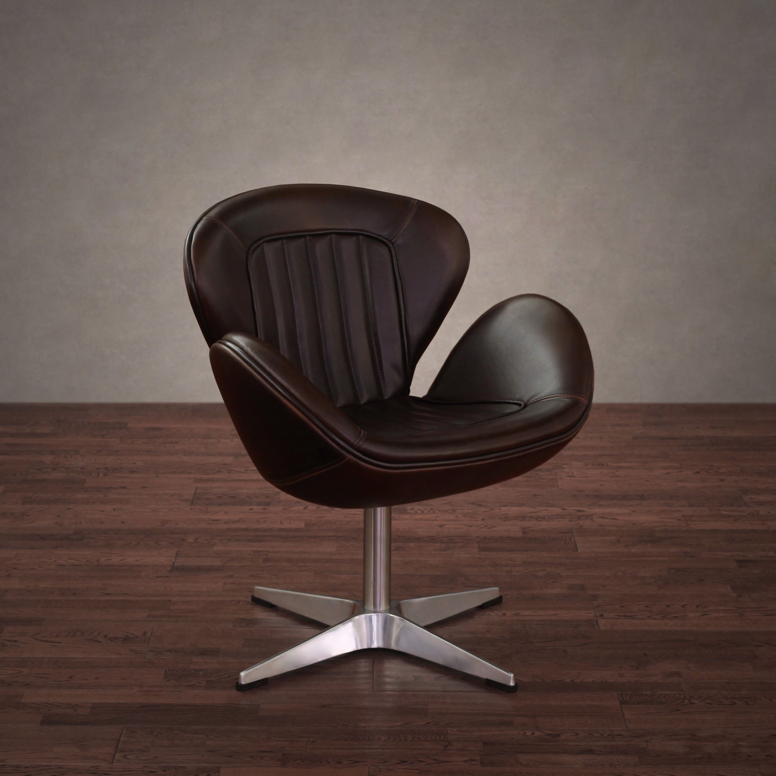 Shop Amelia Vintage Tobacco Leather Swivel Chair – Free Shipping Regarding Swivel Tobacco Leather Chairs (View 2 of 20)