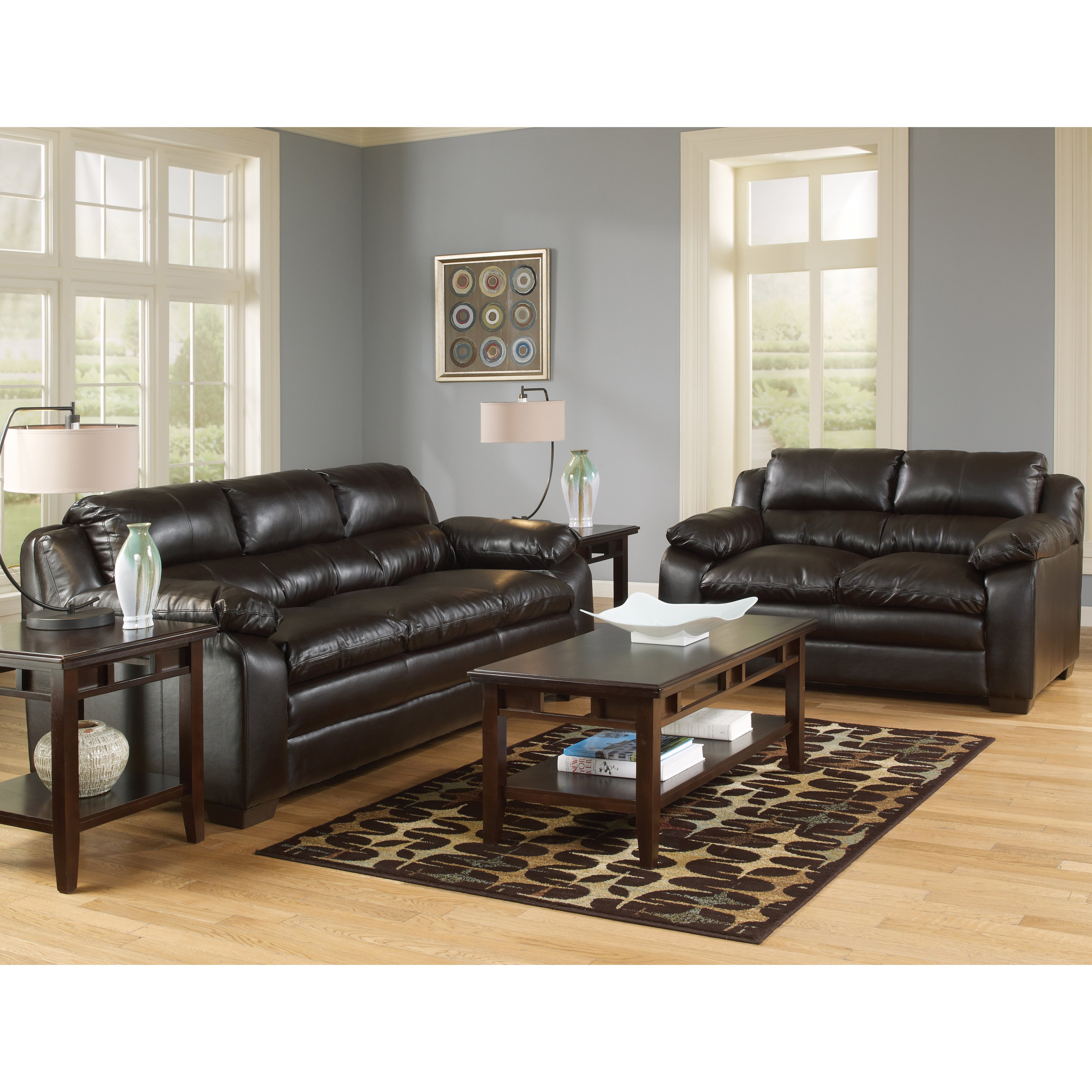 Shop Art Van Maddox Espresso Sofa And Loveseat Set – Free Shipping Regarding Maddox Oversized Sofa Chairs (Image 14 of 20)