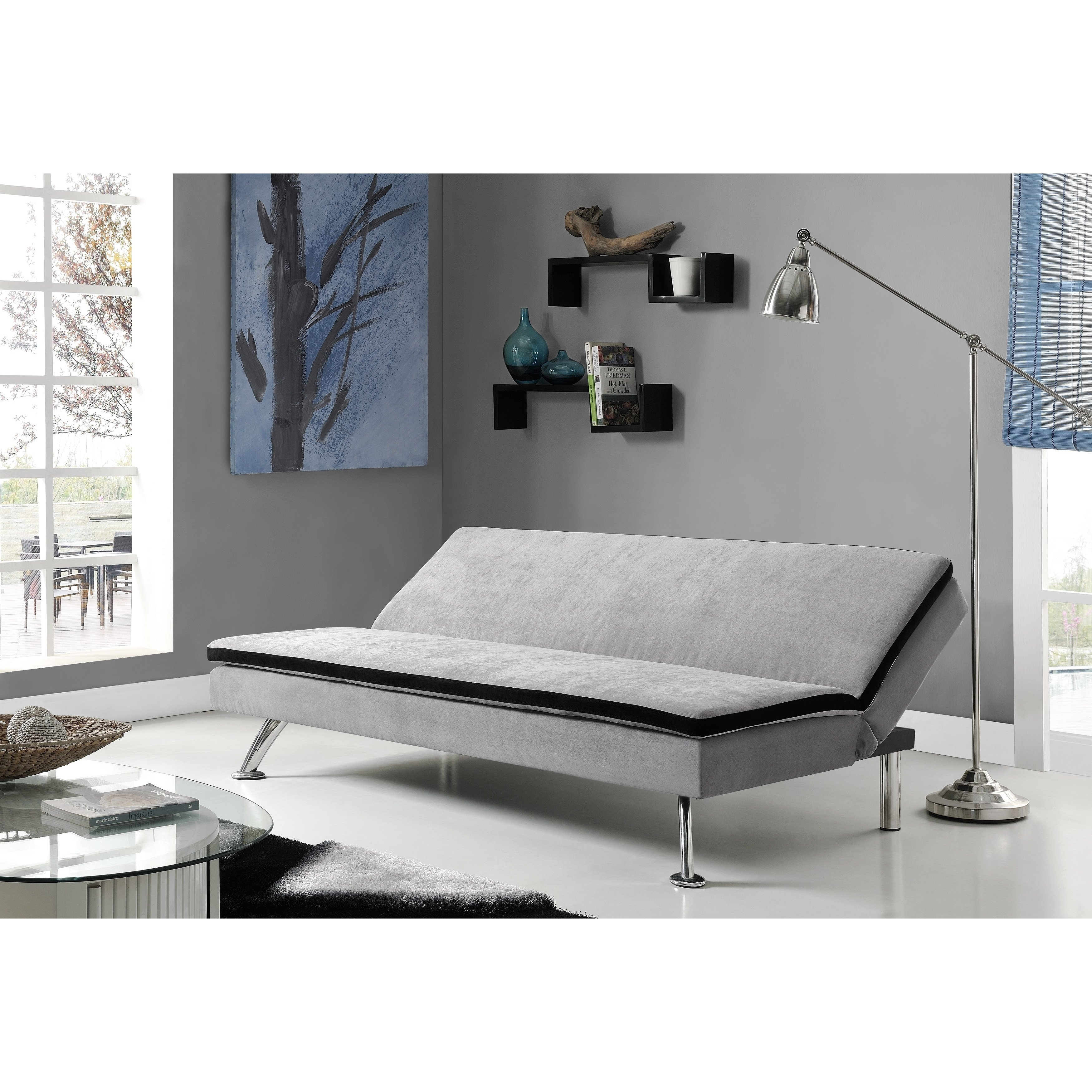 Shop Dhp Maddox Futon Sofa Sleeper – Free Shipping Today – Overstock Within Maddox Oversized Sofa Chairs (Image 15 of 20)