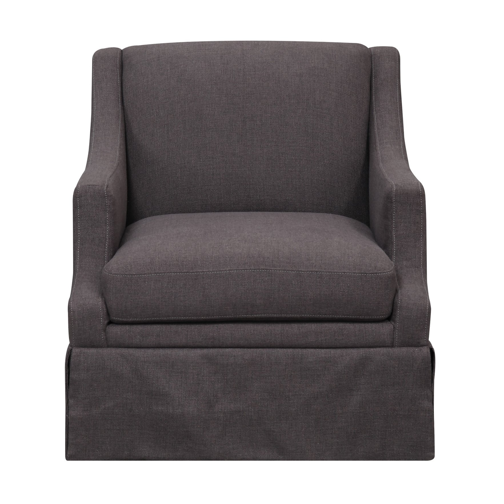 Shop Emerald Home Mckinley Charcoal Swivel Glider Slip Chair – Free For Charcoal Swivel Chairs (Image 18 of 20)