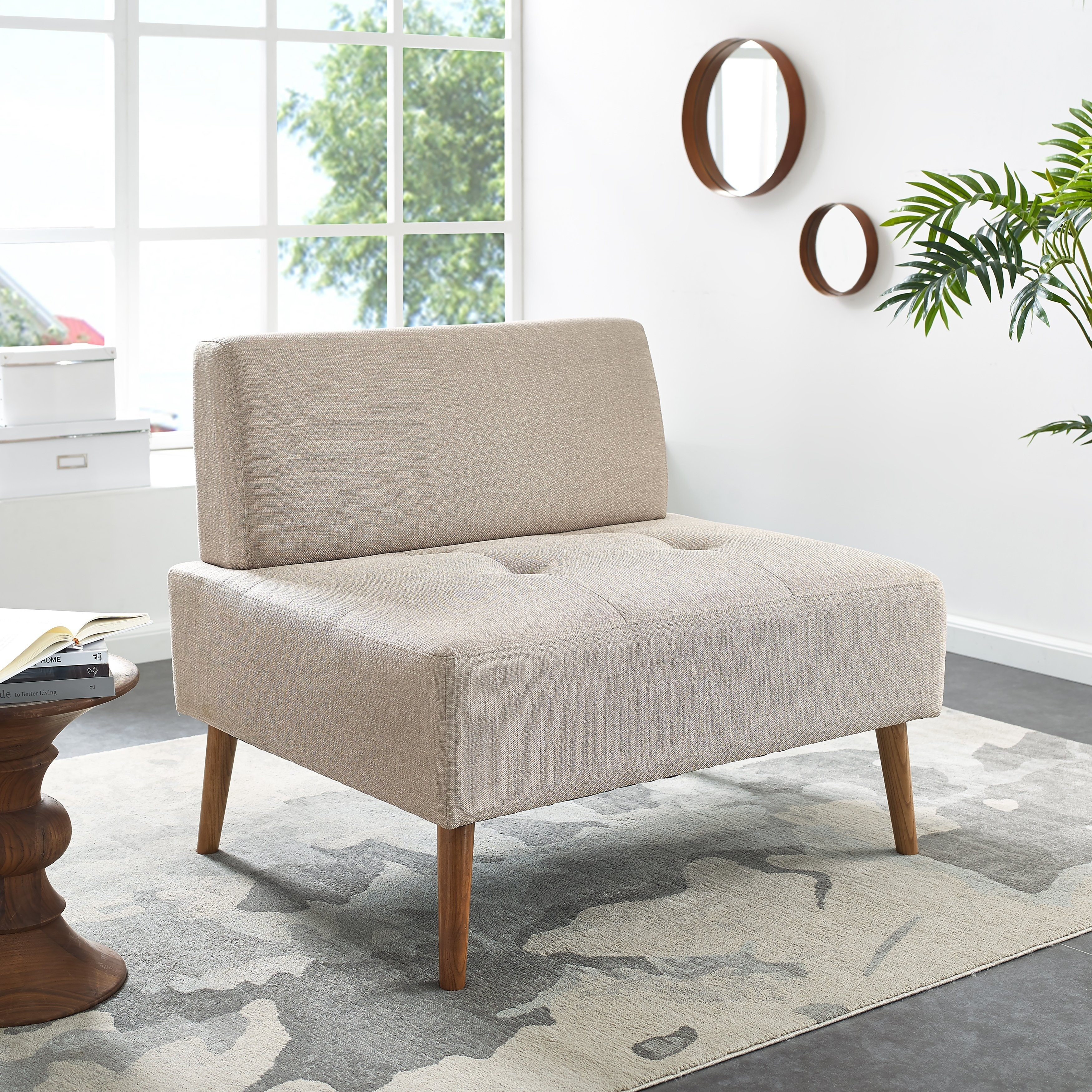 Shop Harper Blvd Altus Armless Chair And A Half – On Sale – Free For Harper Down Oversized Sofa Chairs (Image 17 of 20)
