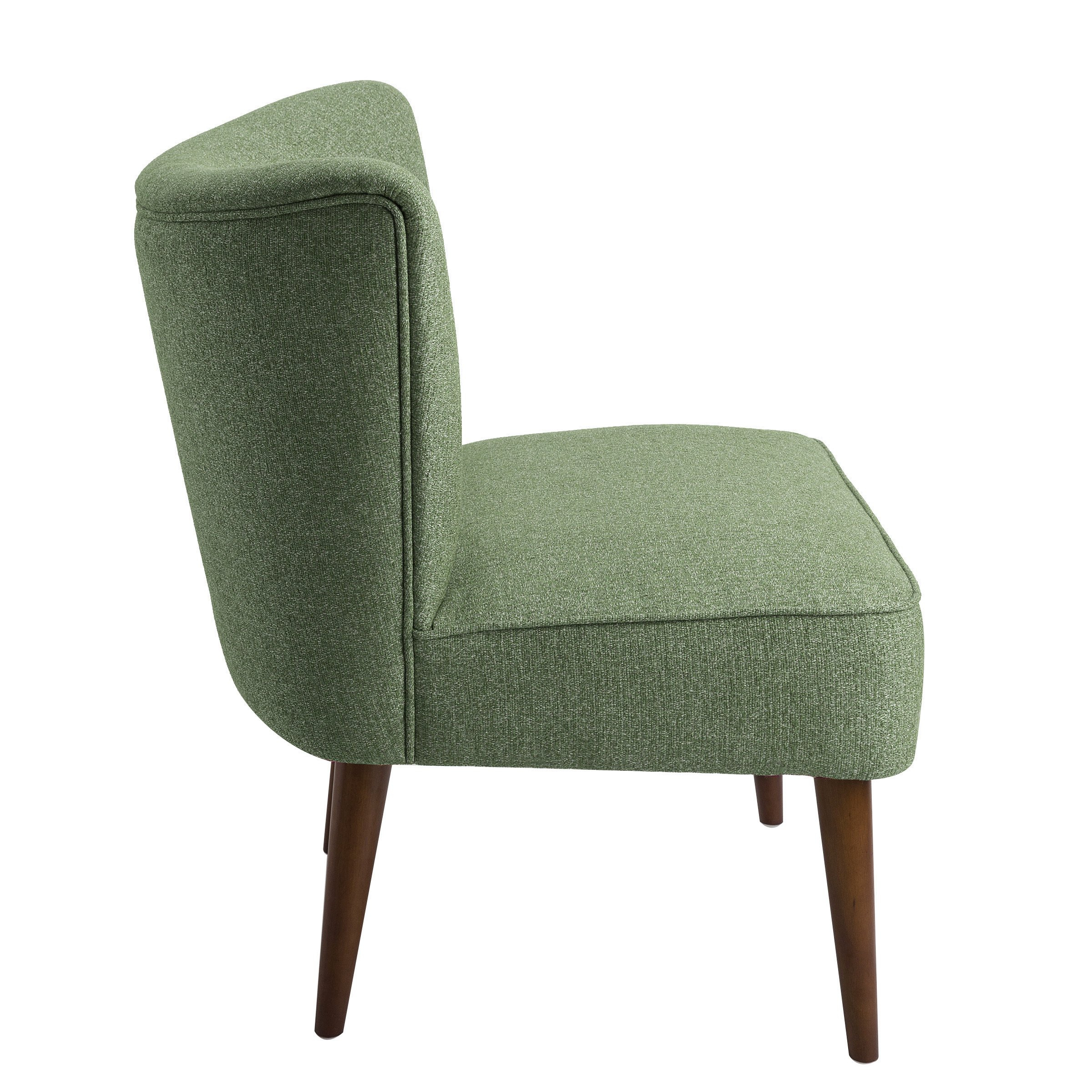 Shop Homepop Chadwick Armless Accent Chair – Teal – On Sale – Free Inside Chadwick Gunmetal Swivel Chairs (Image 16 of 20)