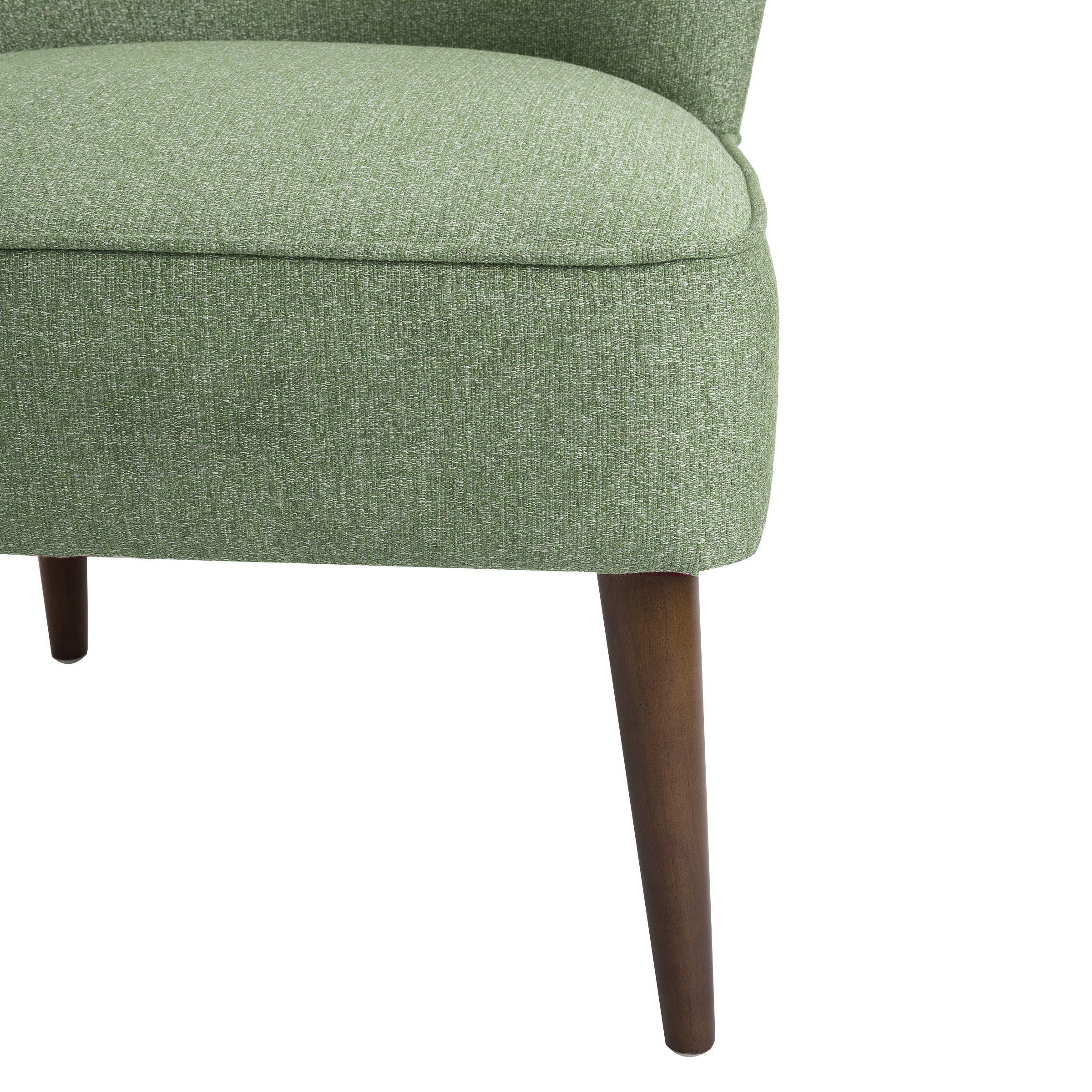 Shop Homepop Chadwick Armless Accent Chair – Teal – On Sale – Free Within Chadwick Gunmetal Swivel Chairs (Image 19 of 20)
