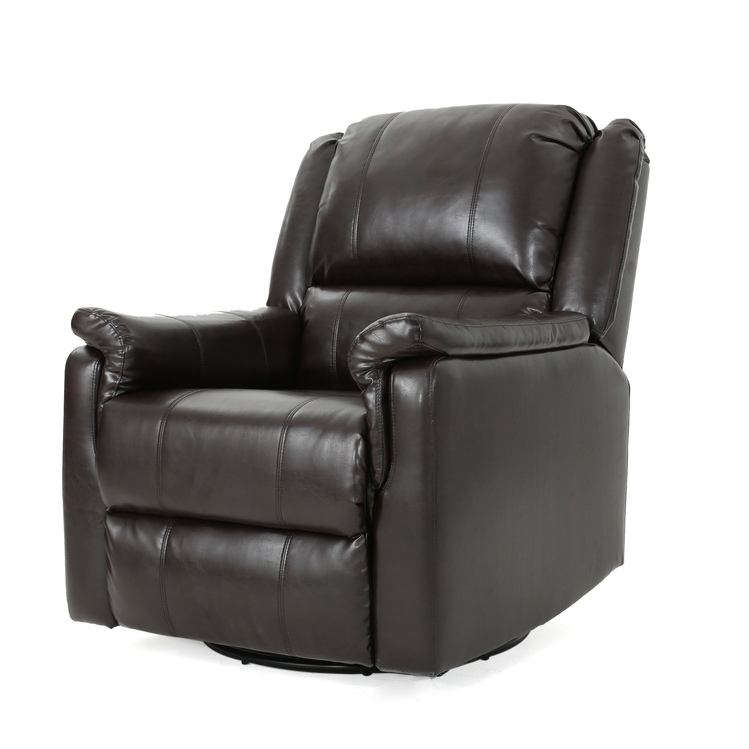 Shop Jennette Faux Leather Swivel Gliding Reclinerchristopher Regarding Franco Iii Fabric Swivel Rocker Recliners (View 14 of 20)