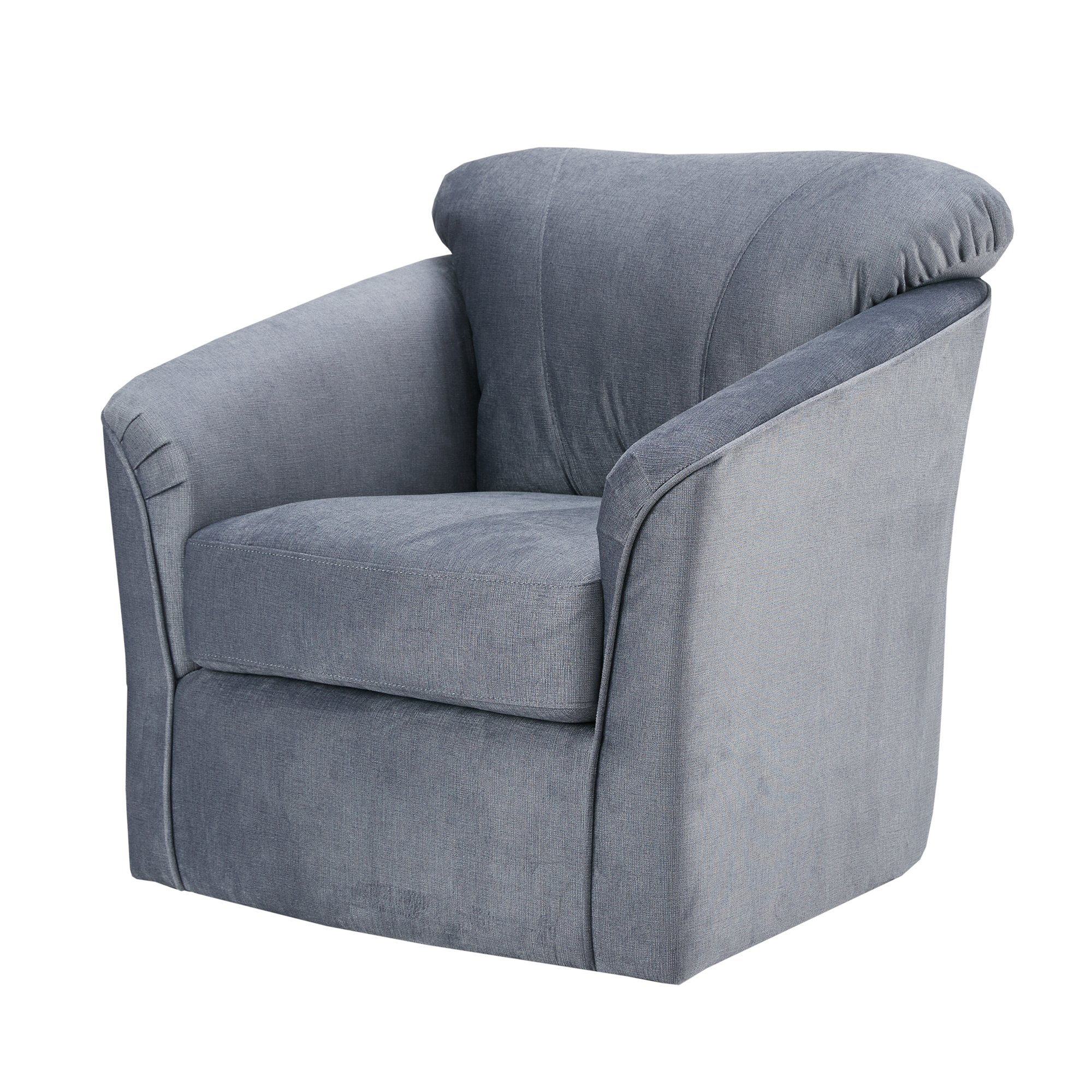 Shop Madison Park Elgin Grey Swivel Chair – Free Shipping Today Throughout Grey Swivel Chairs (Image 16 of 20)