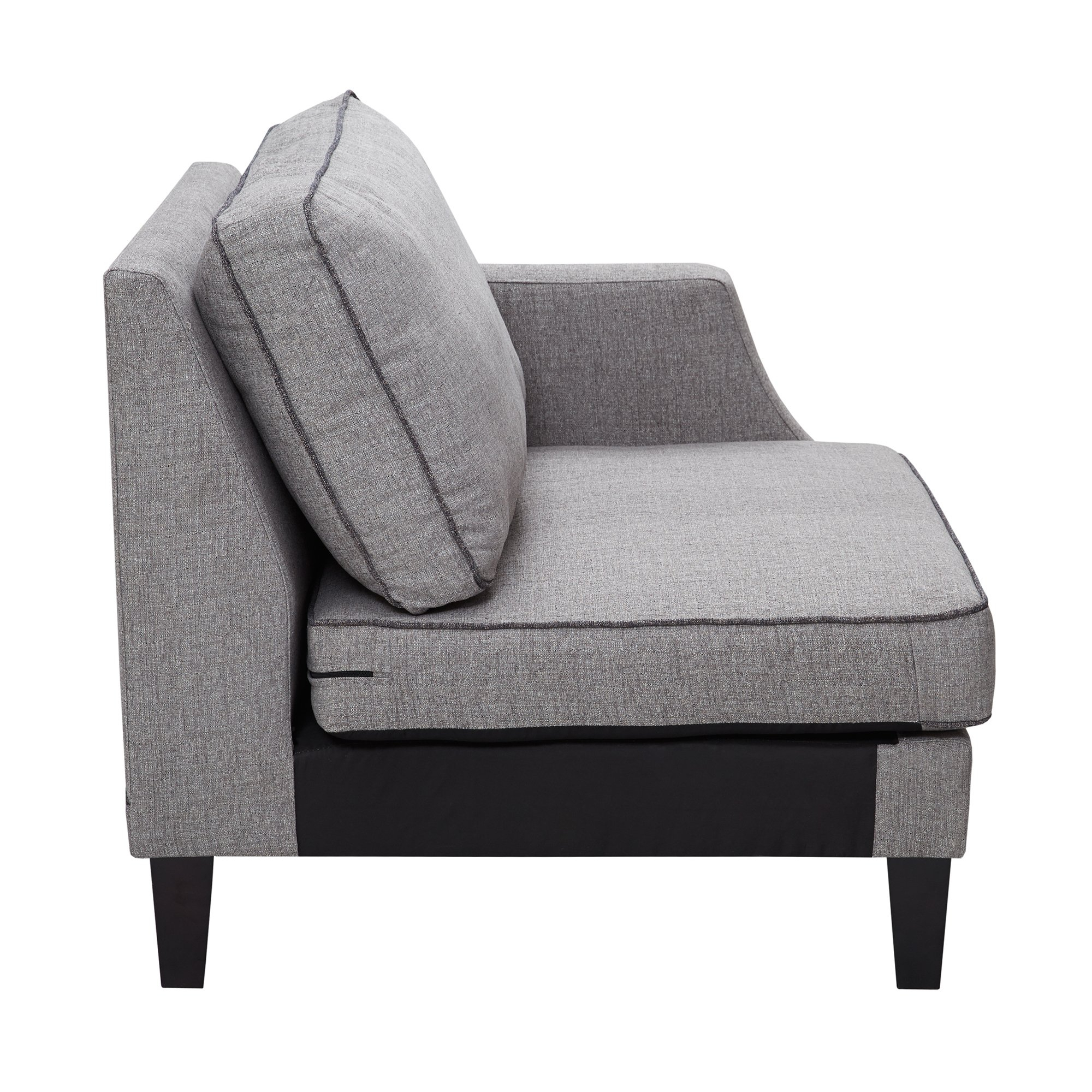 Shop Madison Park Signature Gordon Grey Sectional Sofa Right Arm Intended For Gordon Arm Sofa Chairs (Image 18 of 20)