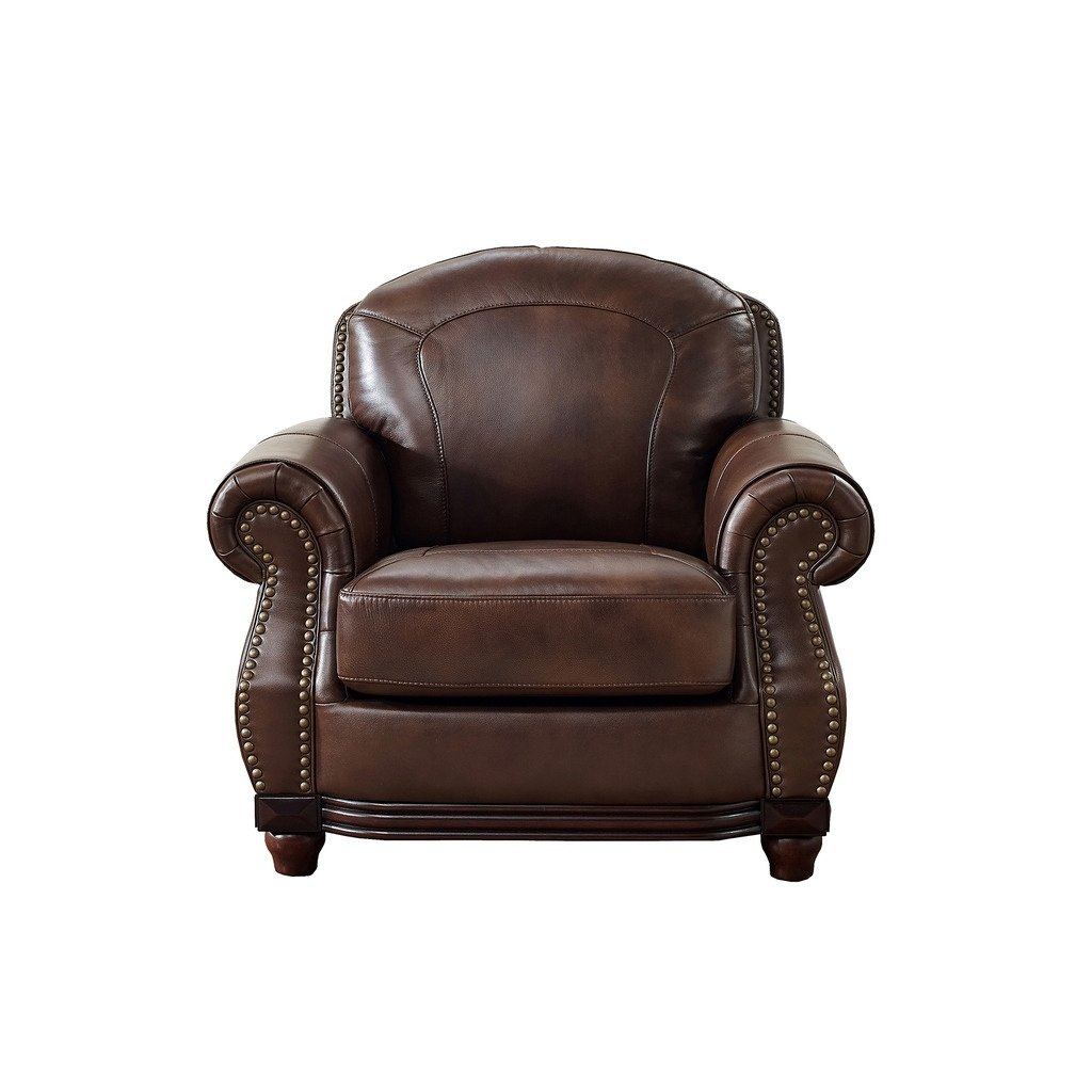 Shop Mesa Brown Leather Chair – On Sale – Free Shipping Today Regarding Mesa Foam Oversized Sofa Chairs (View 17 of 20)