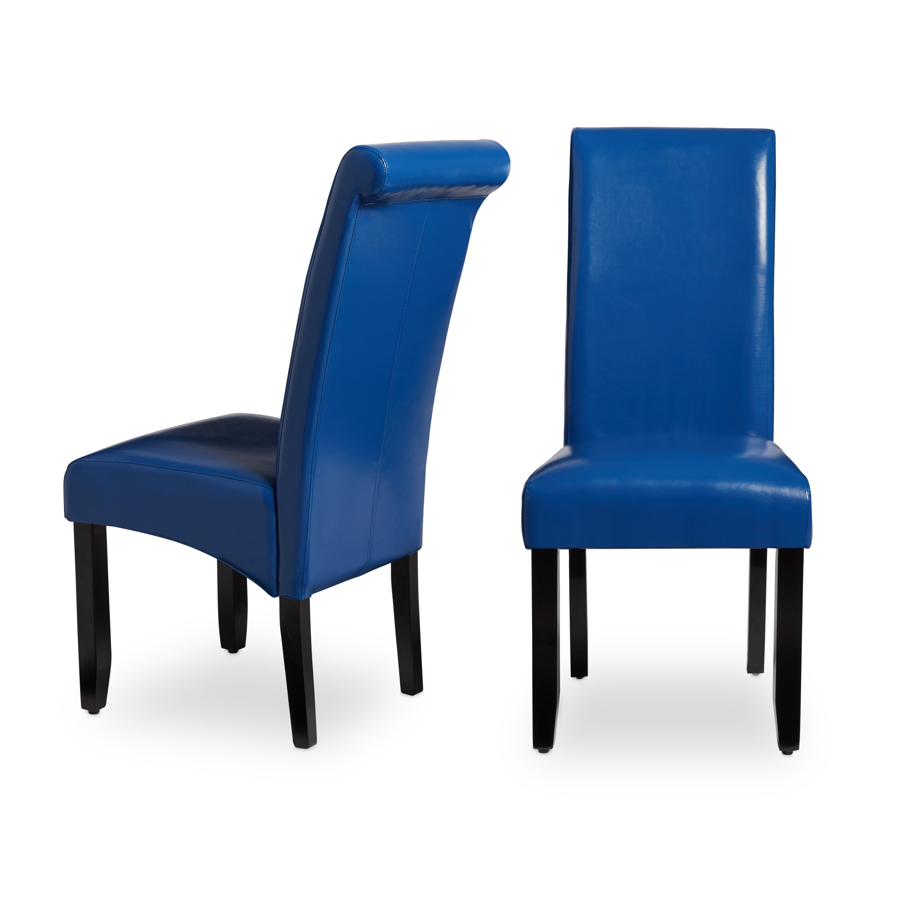 Shop Milan Faux Leather Dining Chairs (Set Of 2) – Free Shipping Within Katrina Blue Swivel Glider Chairs (Image 17 of 20)