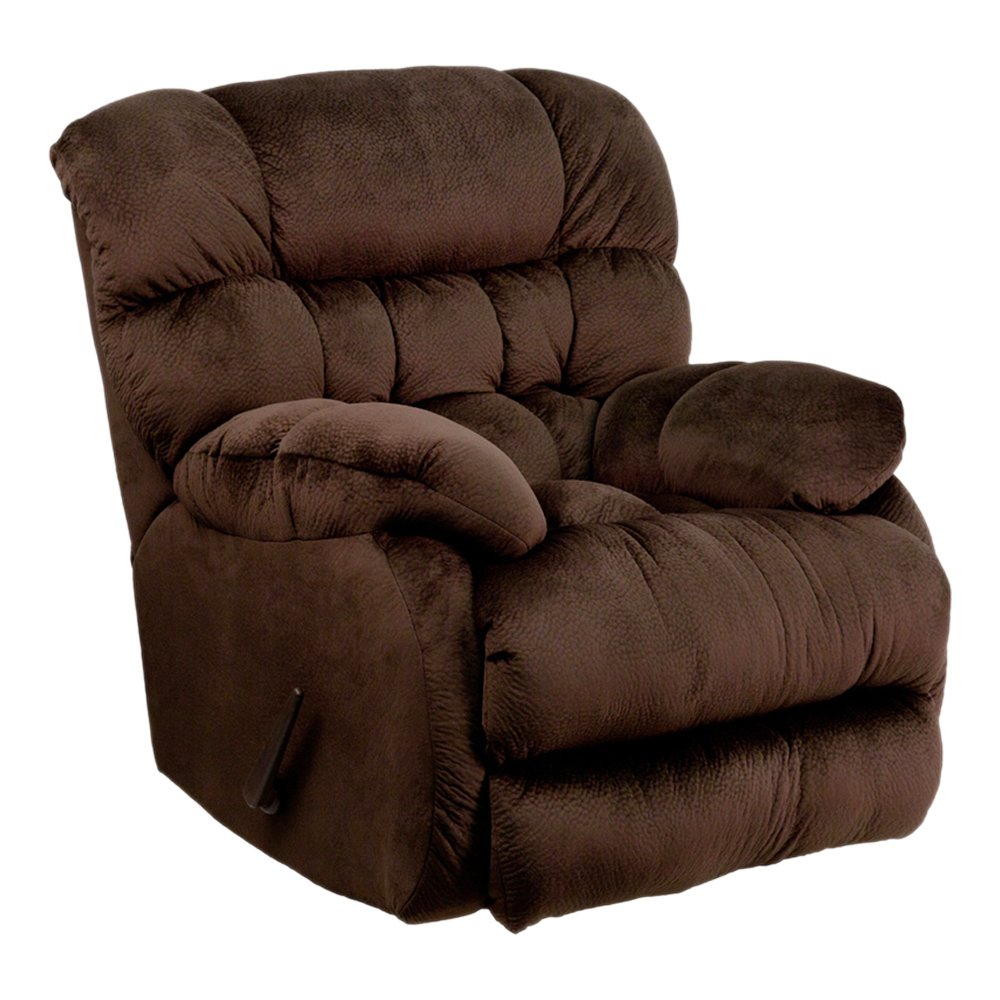 Shop Offex Contemporary Sharpei Chocolate Microfiber Rocker Recliner With Regard To Hercules Chocolate Swivel Glider Recliners (View 15 of 20)