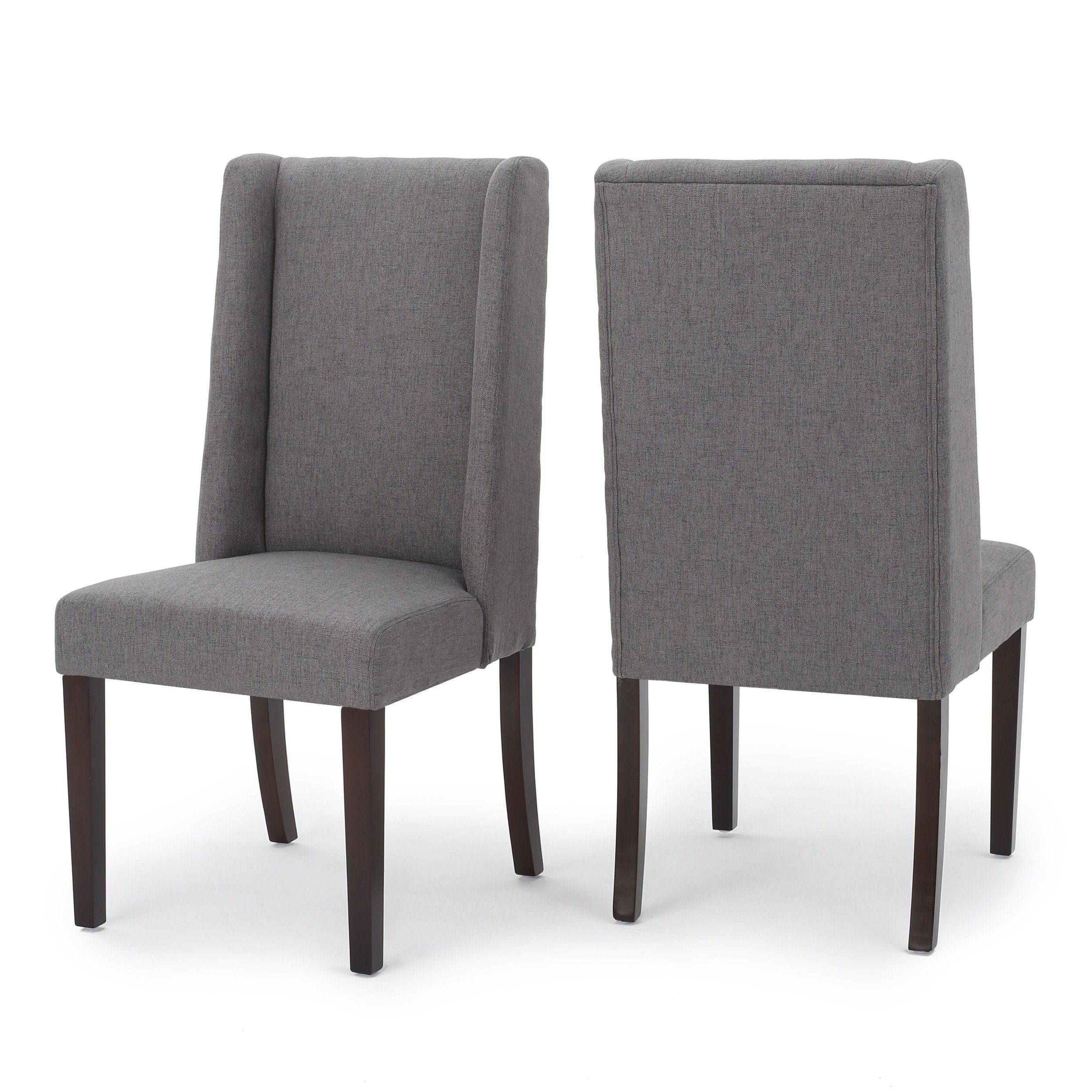 Shop Rory Wing Back Fabric Dining Chair (Set Of 2)Christopher Inside Rory Sofa Chairs (Image 20 of 20)