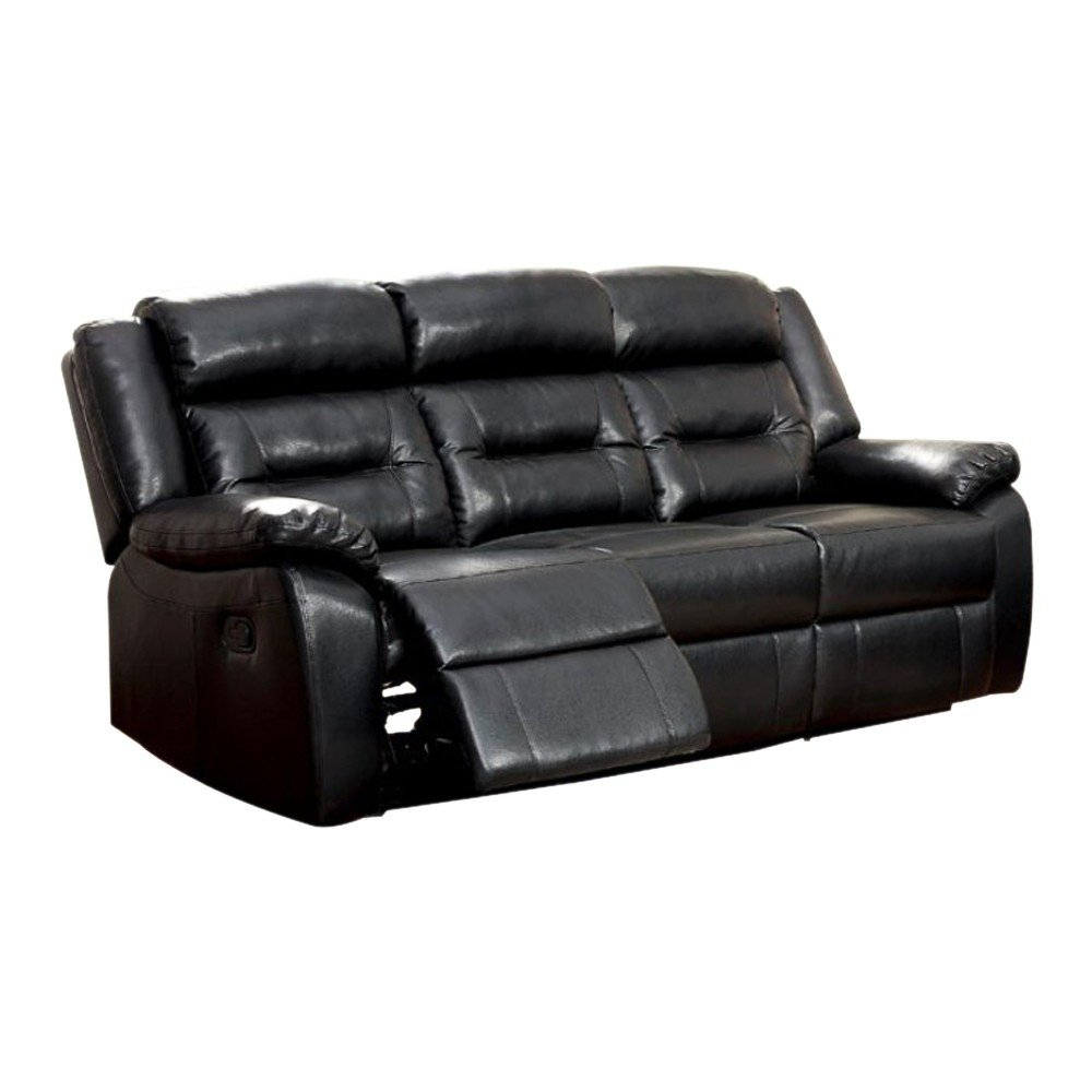 Shop Sheldon Motion Sofa With Black Bonded Leather Match – Free With Sheldon Oversized Sofa Chairs (Photo 5 of 20)