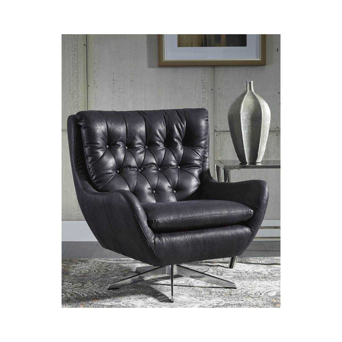 Shop Signature Designashley Velburg Swivel Accent Chair – Free In Umber Grey Swivel Accent Chairs (View 16 of 20)
