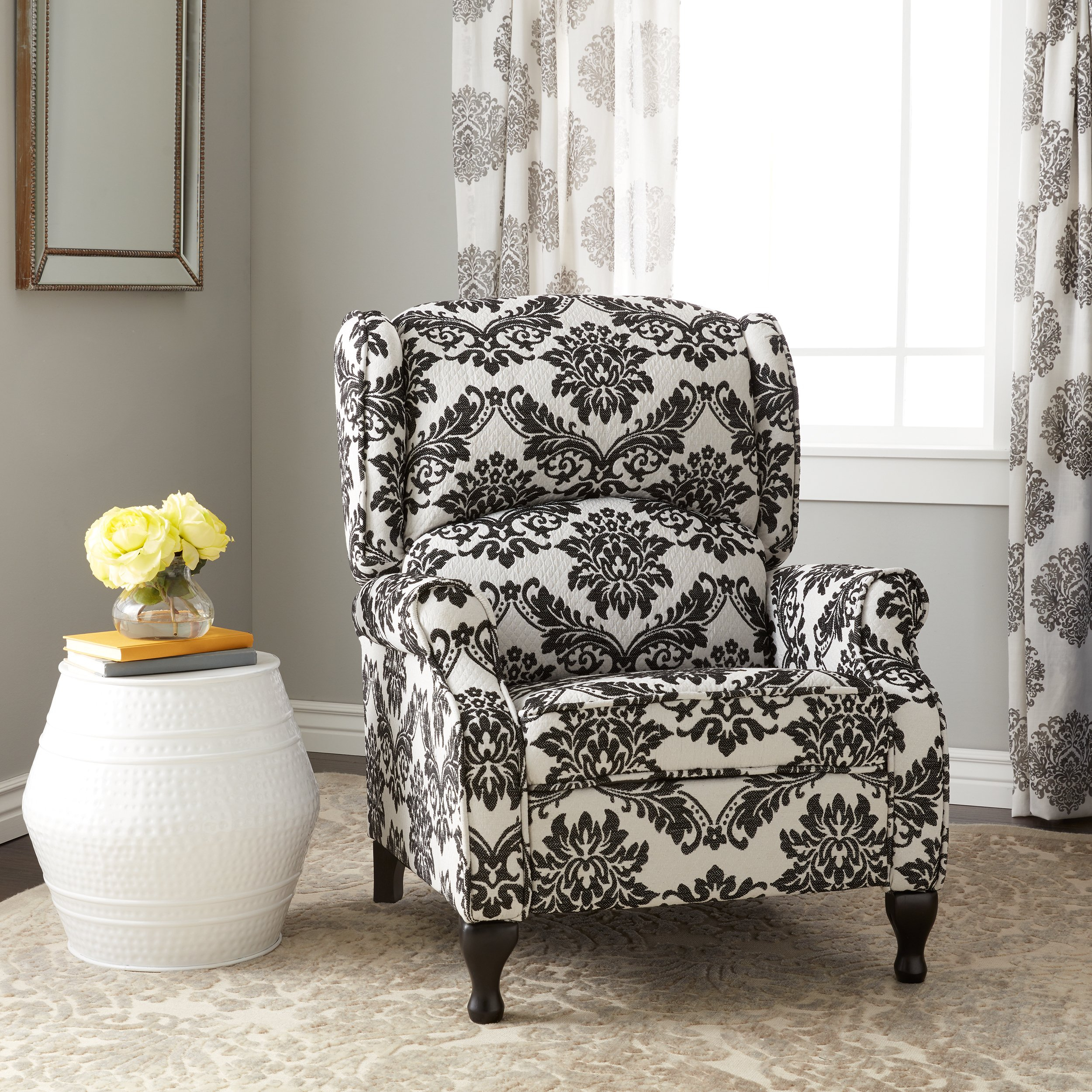 Shop Simple Living Upholstered Wing Recliner – Free Shipping Today Regarding Franco Iii Fabric Swivel Rocker Recliners (Image 15 of 20)