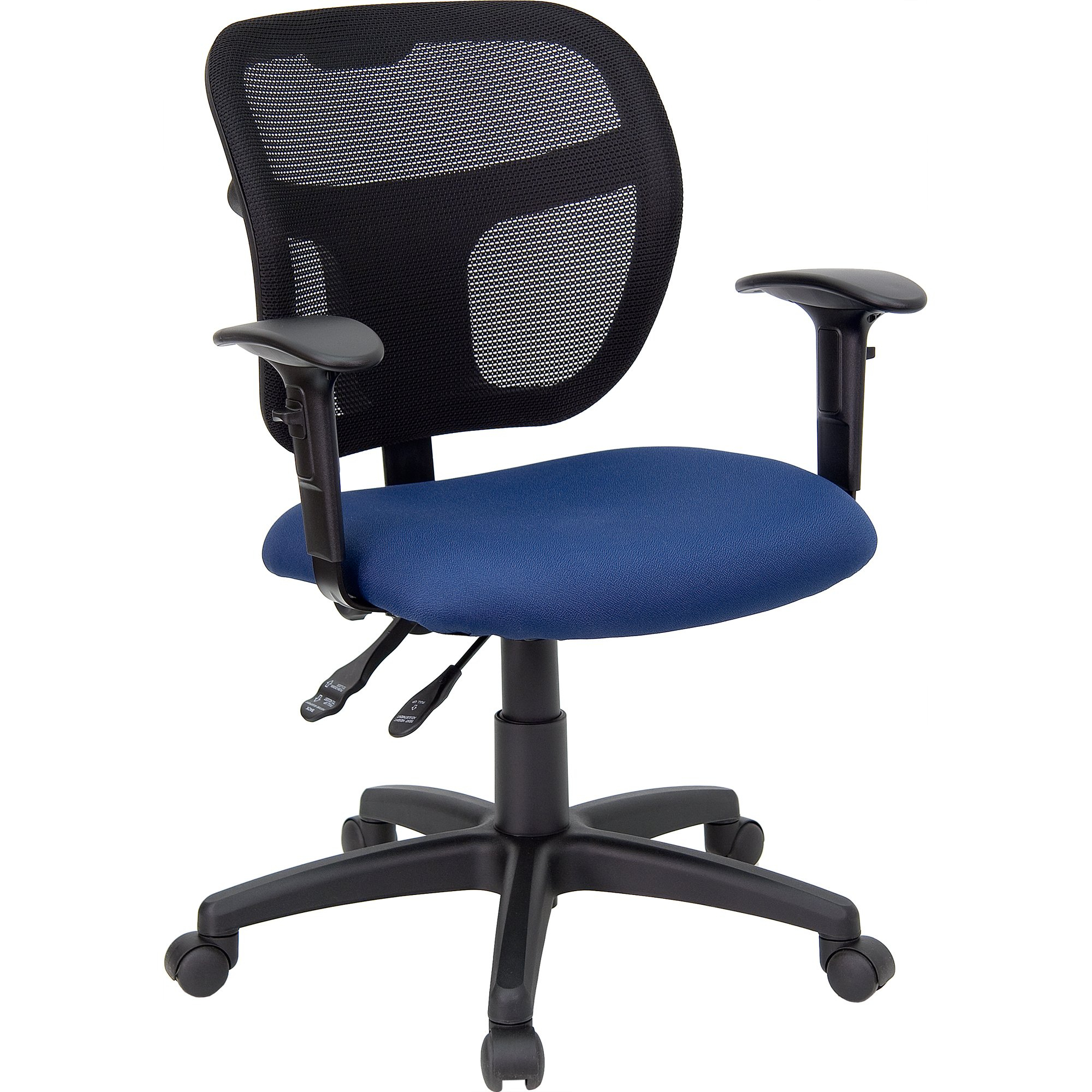 Shop Theo Mesh Dual Paddle Control Adjustable Swivel Ergonomic Pertaining To Theo Ii Swivel Chairs (Image 14 of 20)