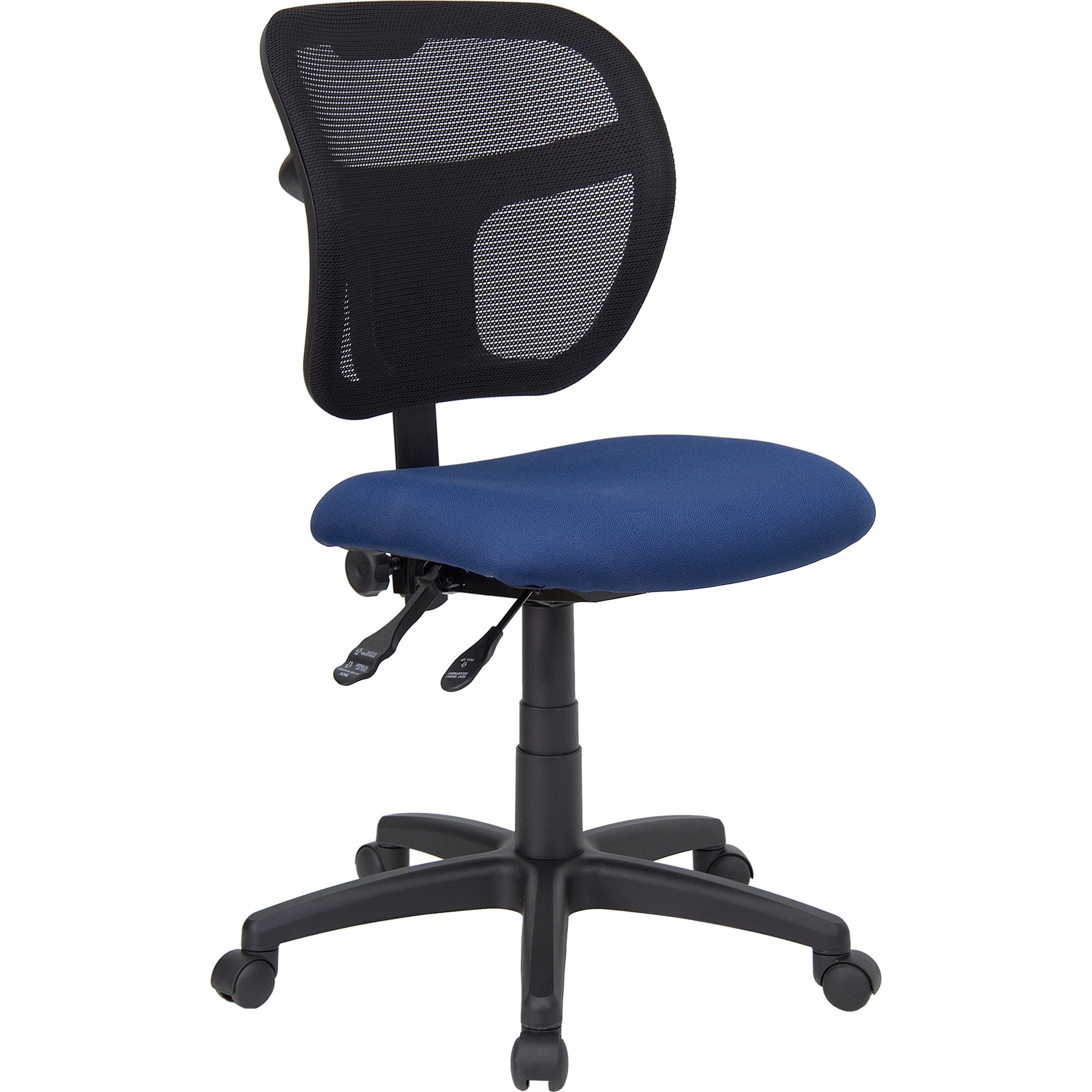 Shop Theo Mesh Dual Paddle Control Swivel Adjustable Armless In Theo Ii Swivel Chairs (Image 15 of 20)
