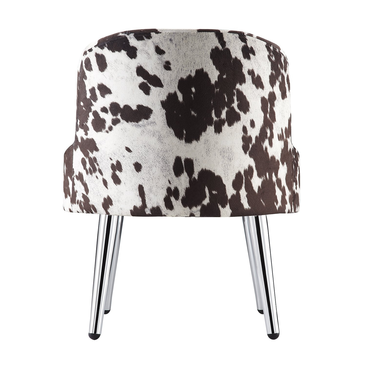 Shop Tribecca Home Bridgeport Ergonomic Contour Cowhide Fabric Inside Circuit Swivel Accent Chairs (Image 16 of 20)
