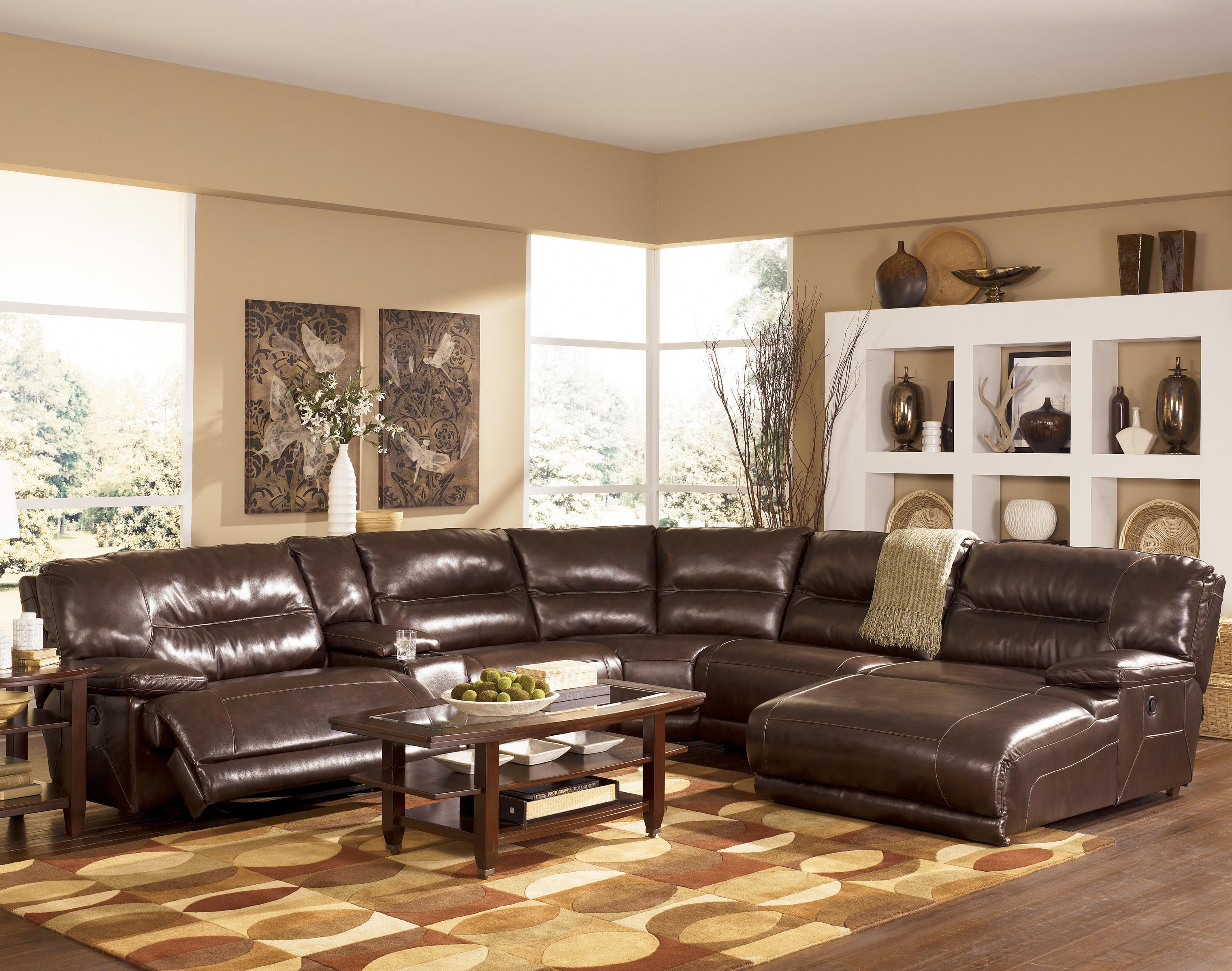 Signature Designashley Exhilaration – Chocolate Contemporary Within Mansfield Cocoa Leather Sofa Chairs (Image 20 of 20)