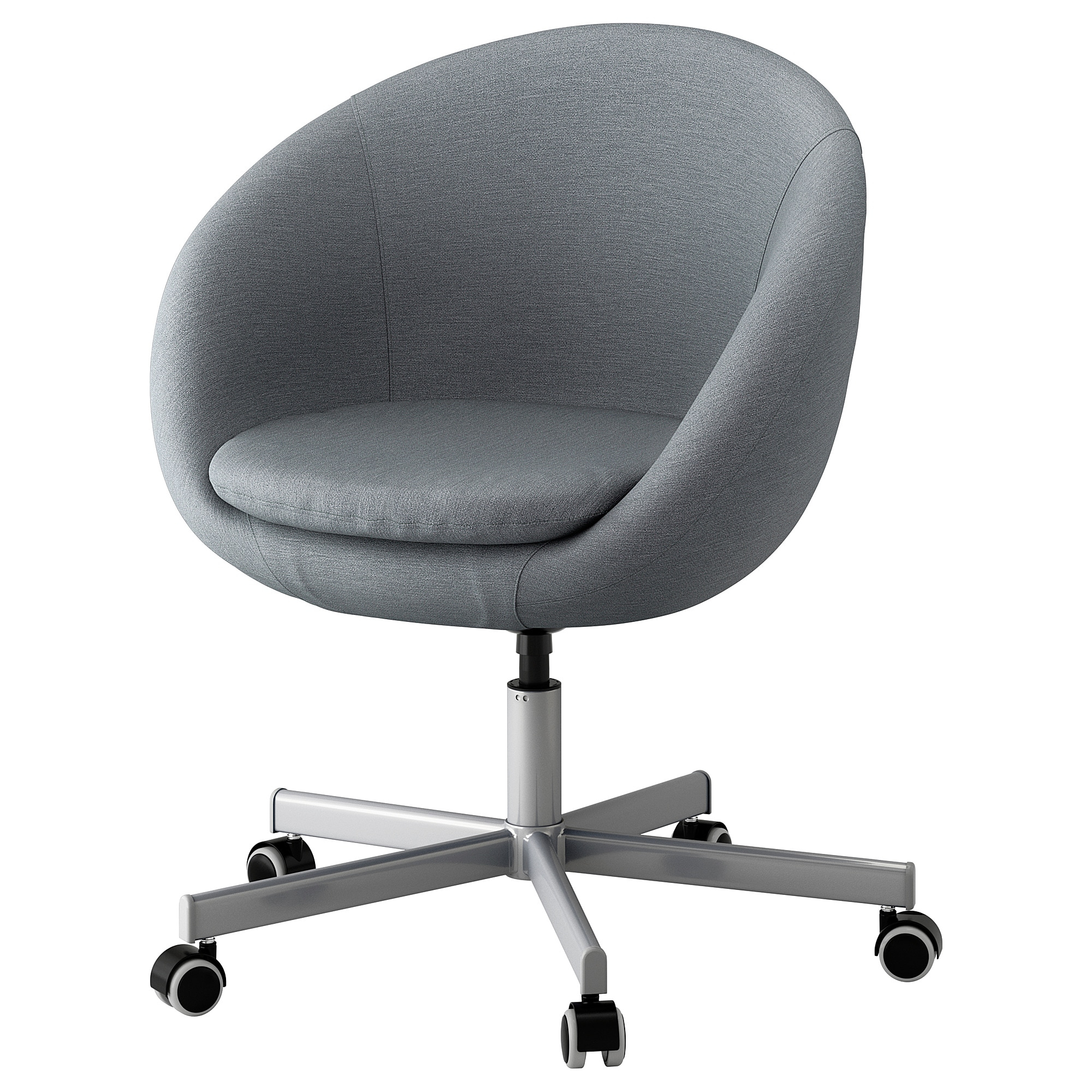 Skruvsta Swivel Chair Flackarp Medium Grey – Ikea Within Grey Swivel Chairs (Image 17 of 20)