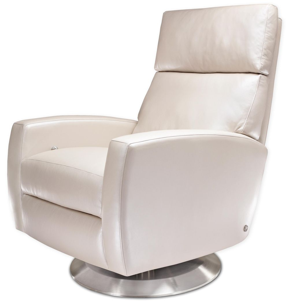 Snow White American Leather Ella Recliner From Treeforms (Image 19 of 20)