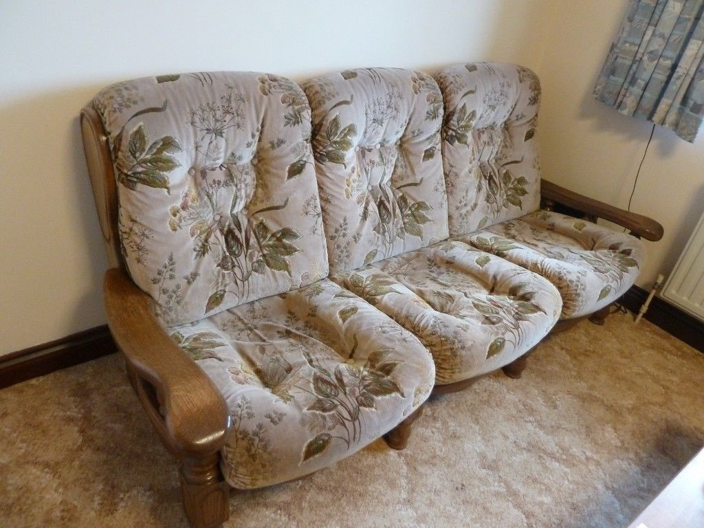 Sofa & 2 Matching Arm Chairs | In Plymouth, Devon | Gumtree Inside Devon Ii Arm Sofa Chairs (Image 17 of 20)