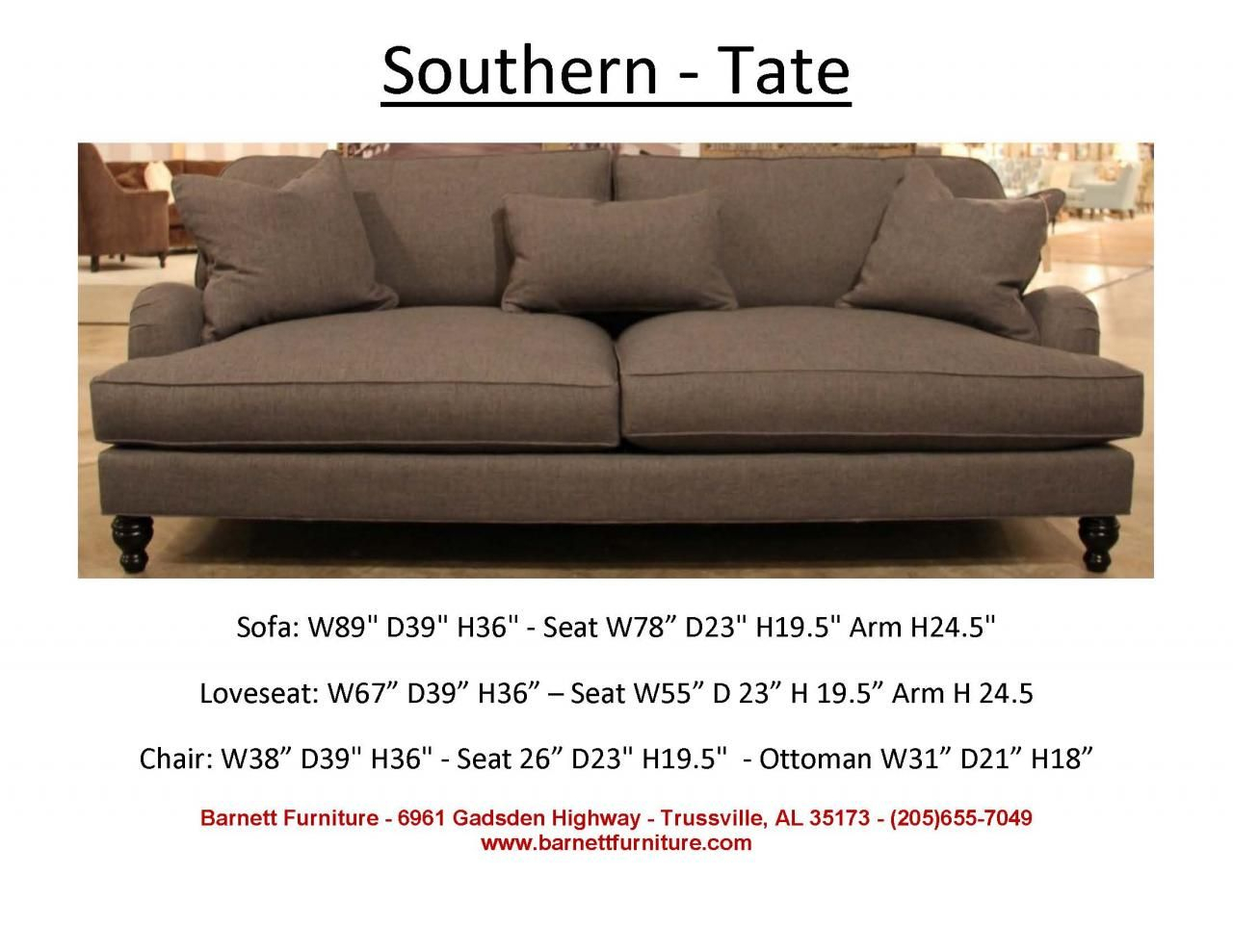 Southern Furniture Tate Sofa. You Choose The Fabric (Image 14 of 20)